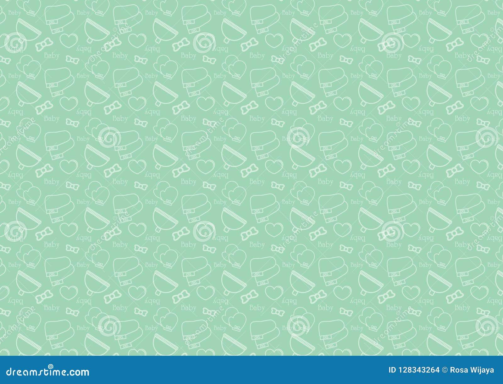 Άνευ ραφής σχέδιο στο εικονίδιο ύφους γραμμών με διάνυσμα θέματος εξαρτημάτων μωρών το editable resizable πλήρως στο μαλακό πράσι
