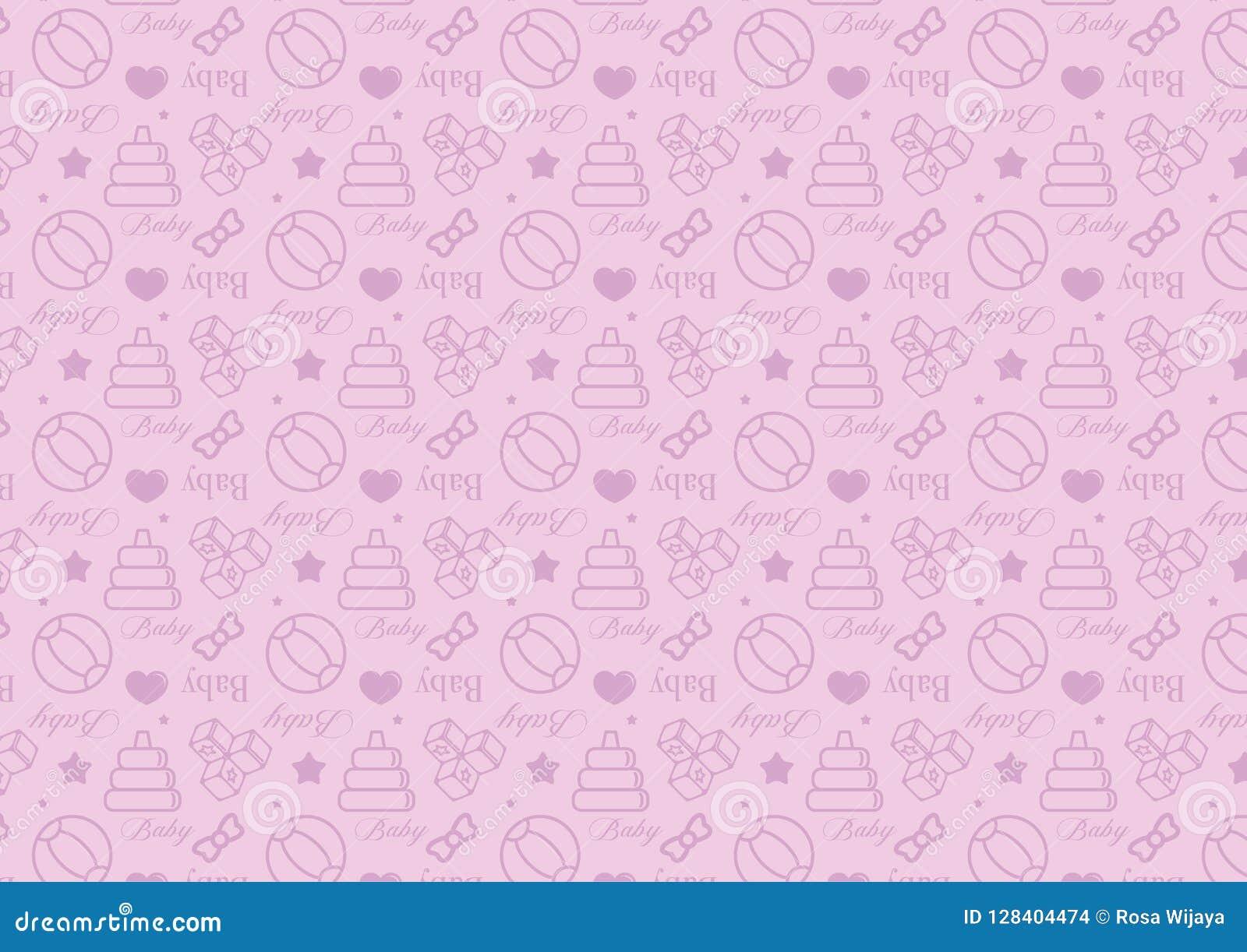 Άνευ ραφής σχέδιο στο εικονίδιο ύφους γραμμών με διάνυσμα θέματος παιχνιδιών μωρών το editable resizable πλήρως στο μαλακό μπλε χ