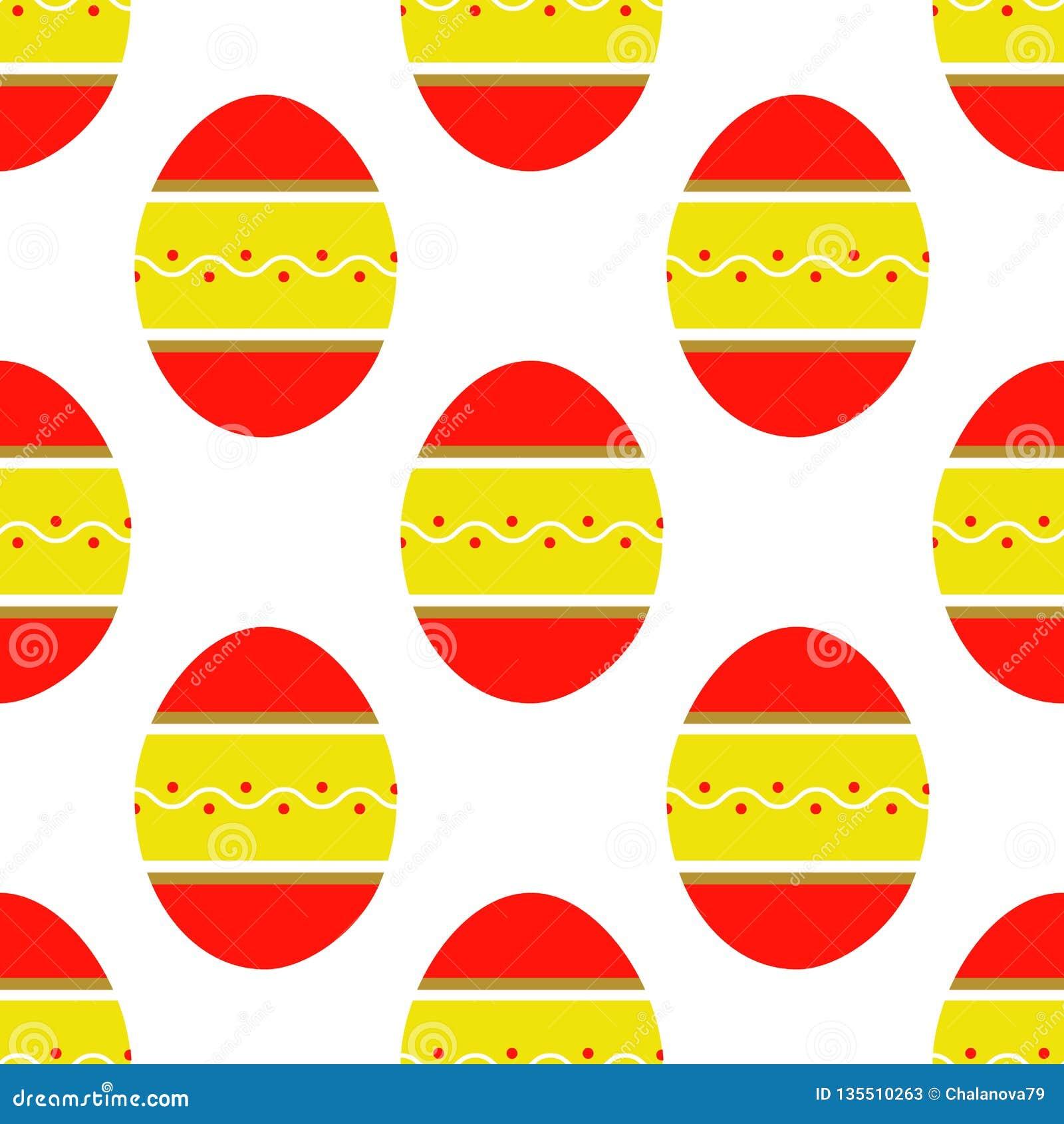 Άνευ ραφής σχέδιο των ζωηρόχρωμων φωτεινών διακοσμημένων αυγών