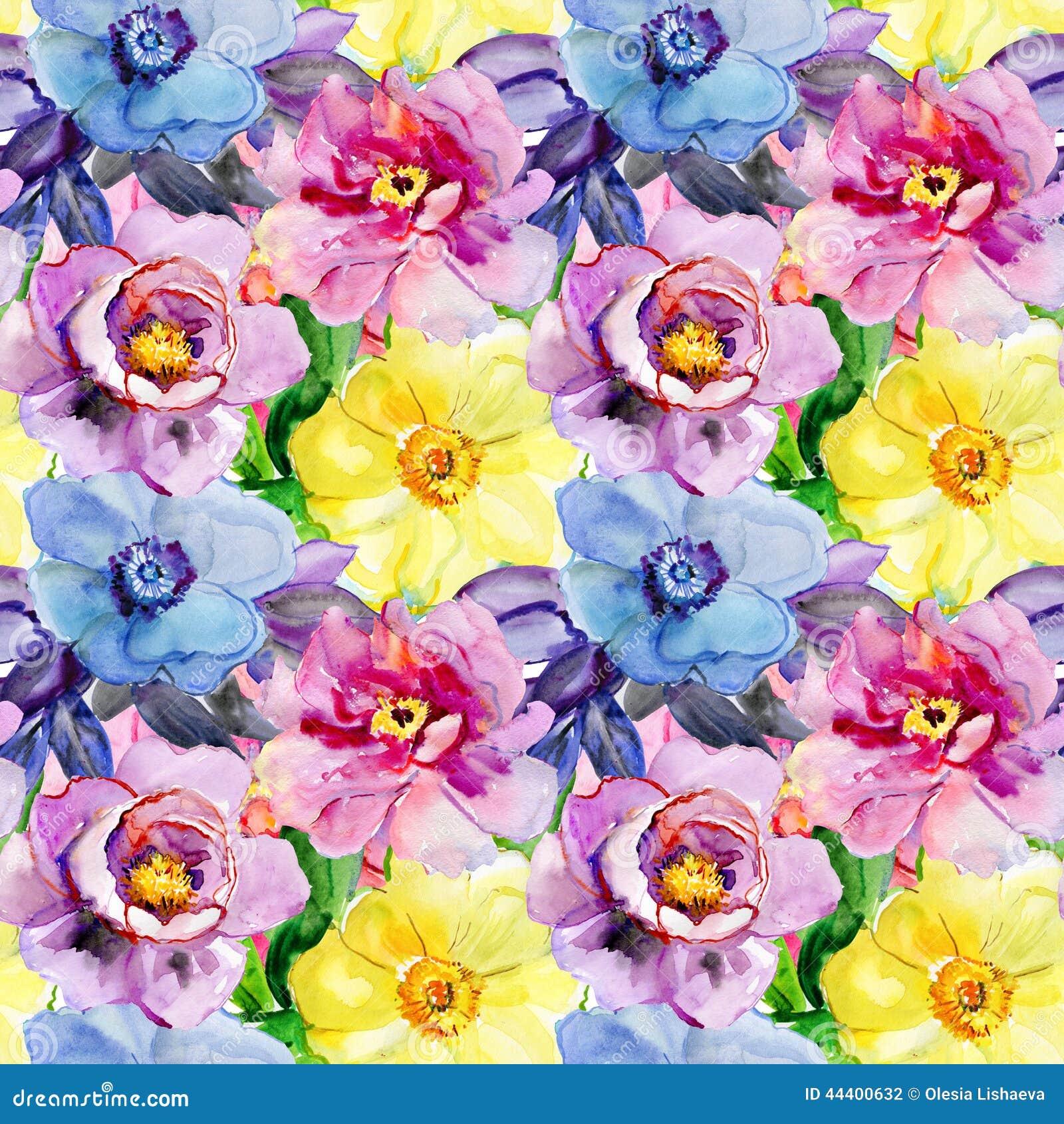 Άνευ ραφής σχέδια με τα όμορφα λουλούδια