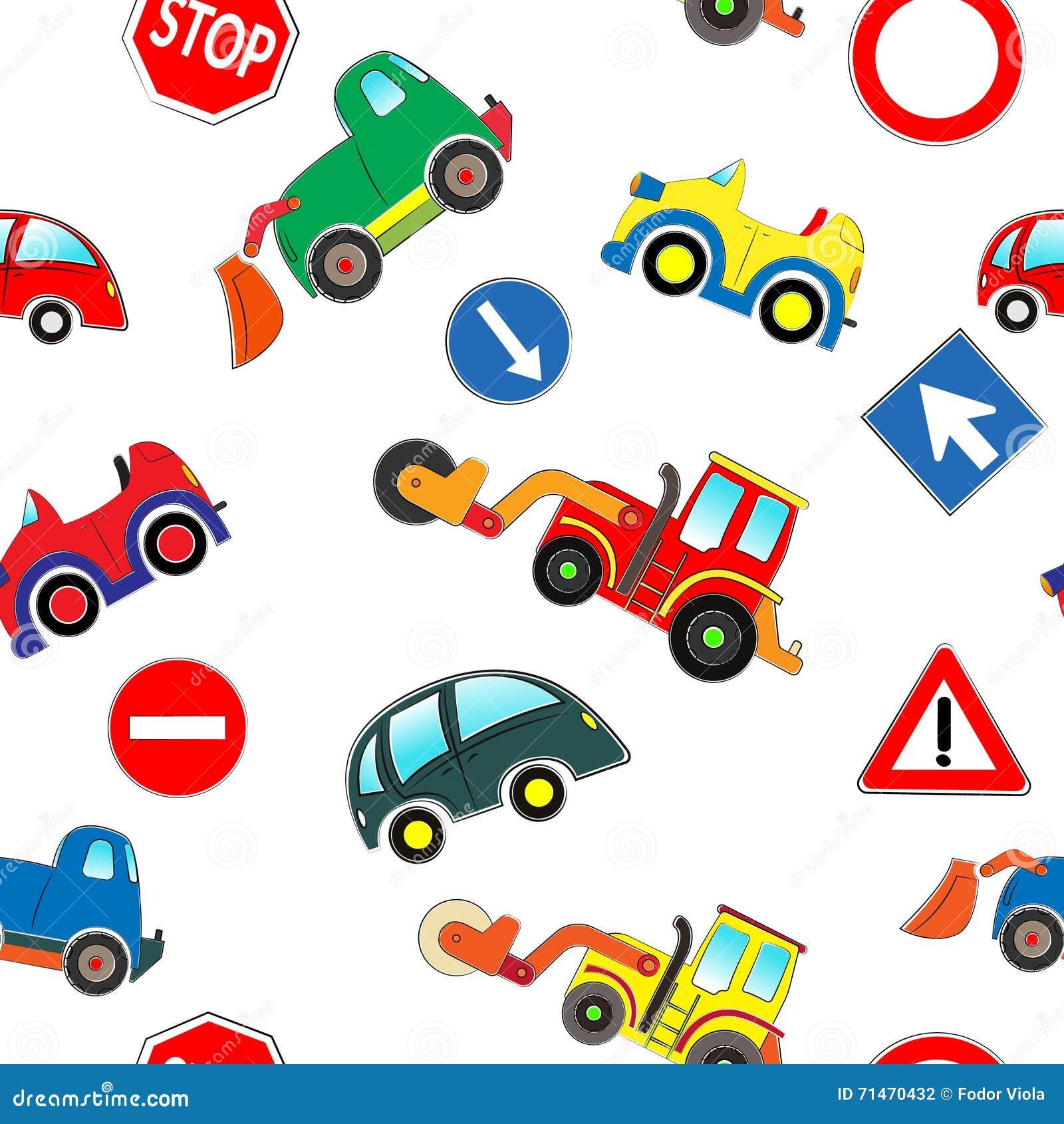 Άνευ ραφής σχέδιο αυτοκινήτων παιδιών
