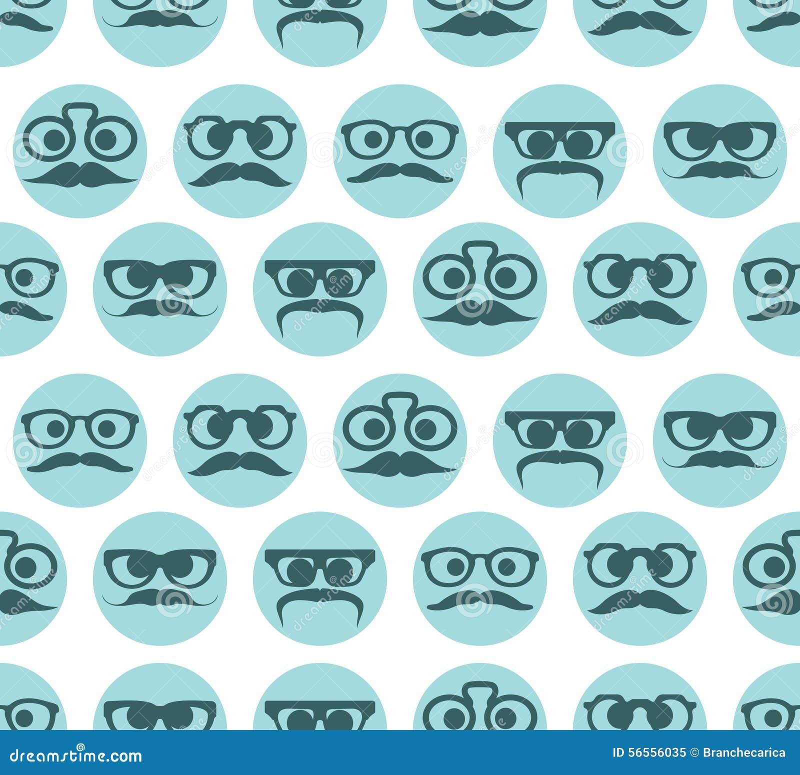 Download Άνευ ραφής σχέδιο εκφράσεων προσώπων Hipster Διανυσματική απεικόνιση - εικονογραφία από σύνολο, ανασκόπησης: 56556035