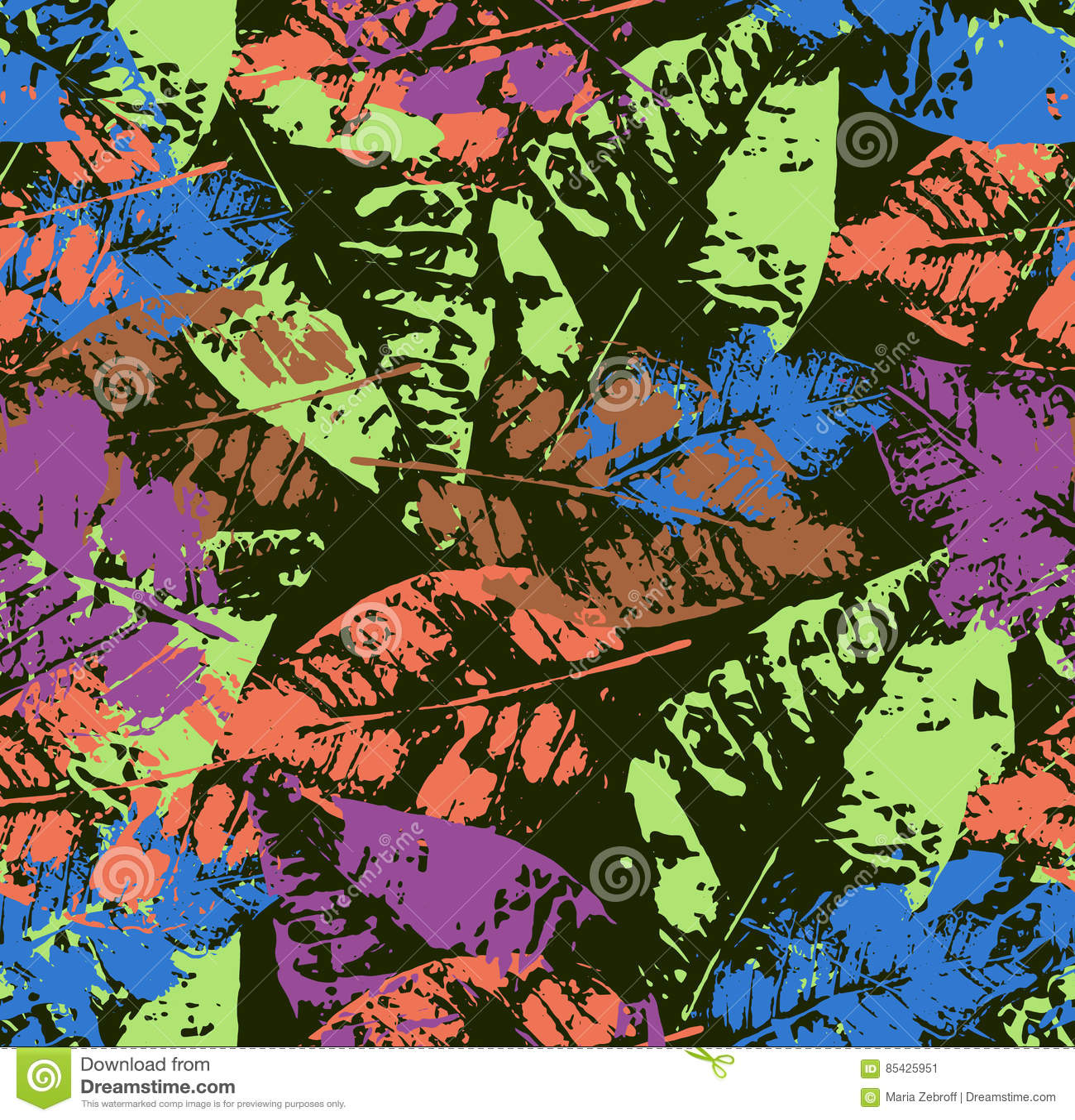 Άνευ ραφής σχέδιο με τα χρωματισμένα φύλλα φθινοπώρου