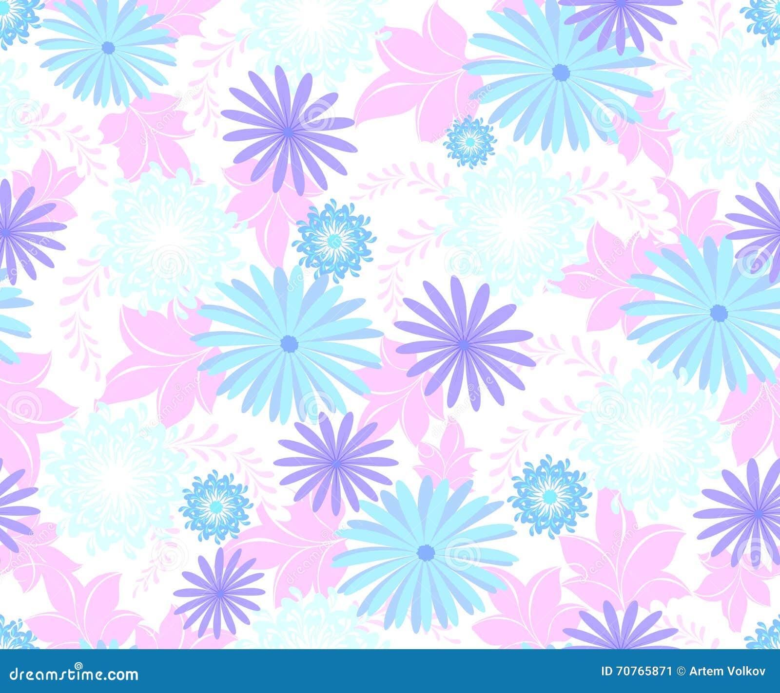 Άνευ ραφής σχέδιο λουλουδιών στο άσπρο υπόβαθρο EPS10 διανυσματική απεικόνιση