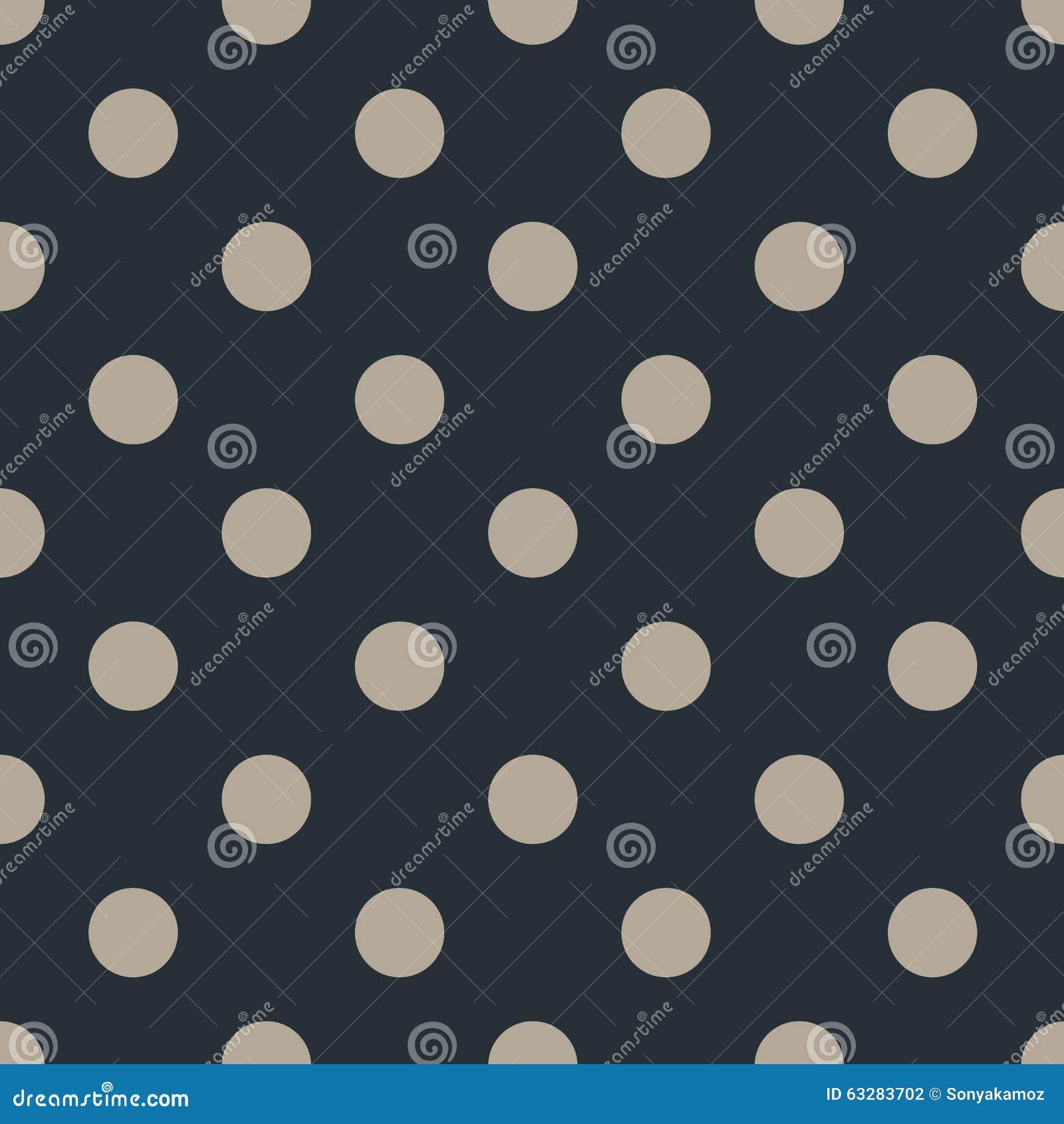 Άνευ ραφής σχέδιο σημείων Πόλκα στο μαύρο υπόβαθρο επίσης corel σύρετε το διάνυσμα απεικόνισης