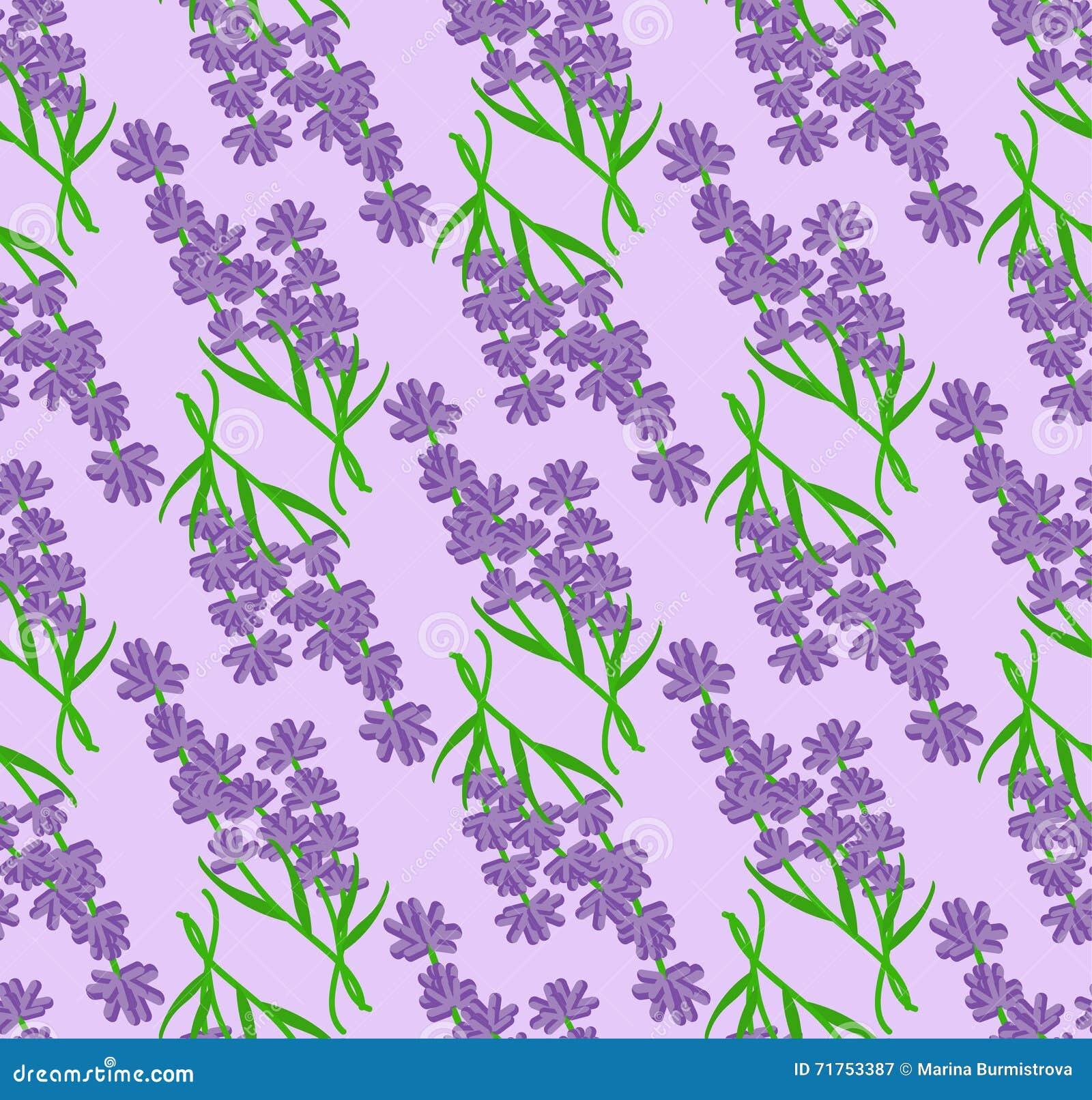 Άνευ ραφής σχέδιο lavender των λουλουδιών