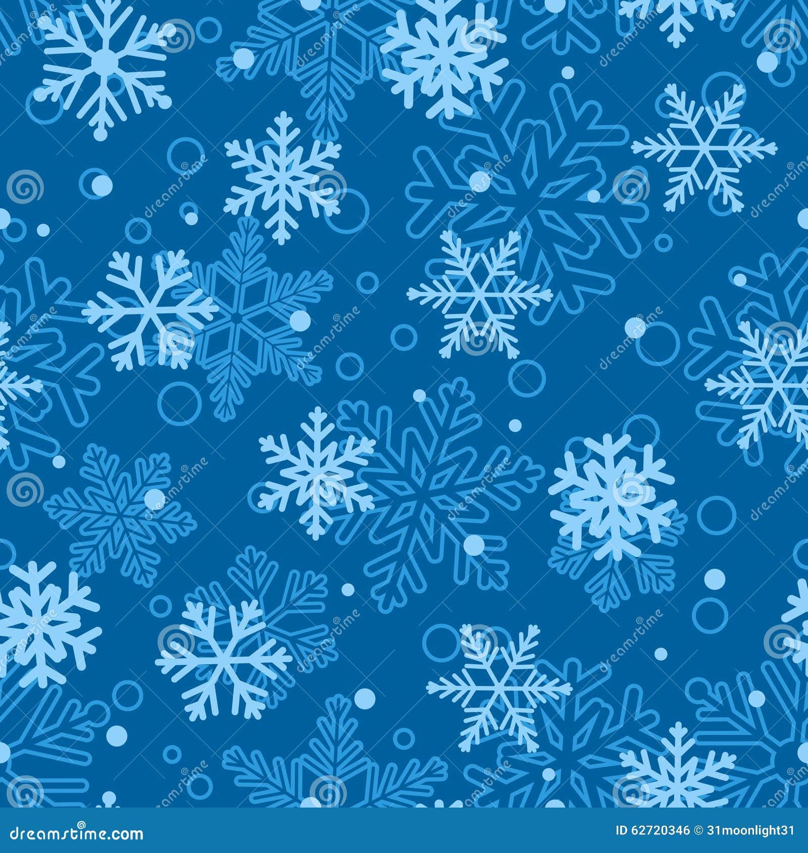 Άνευ ραφής σχέδιο snowflakes, ανοικτό μπλε στο μπλε