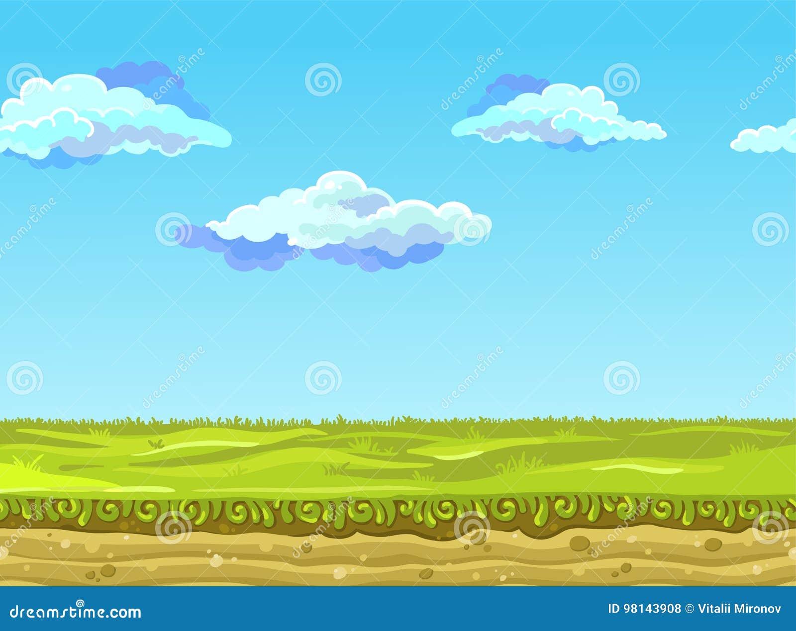 Άνευ ραφής τοπίο, διανυσματική απεικόνιση