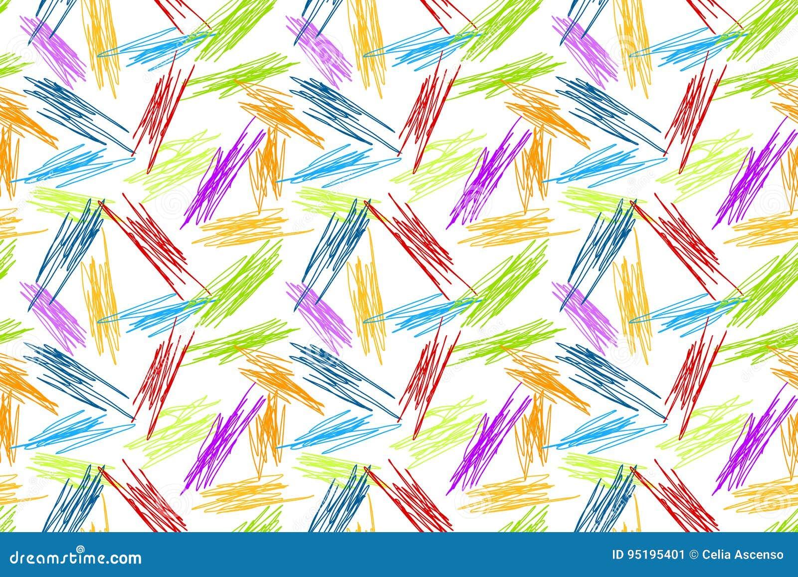 Άνευ ραφής υπόβαθρο ουράνιων τόξων Doodles μολυβιών
