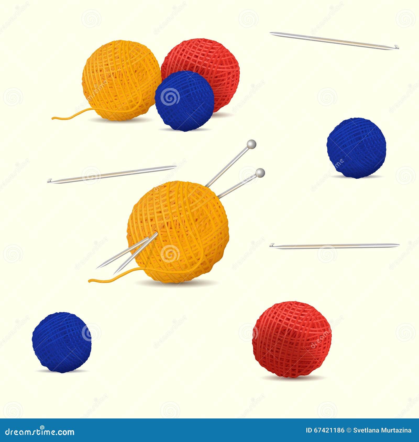 Άνευ ραφής χρωματισμένα σχέδιο νηματοδέματα του νήματος για το πλέξιμο