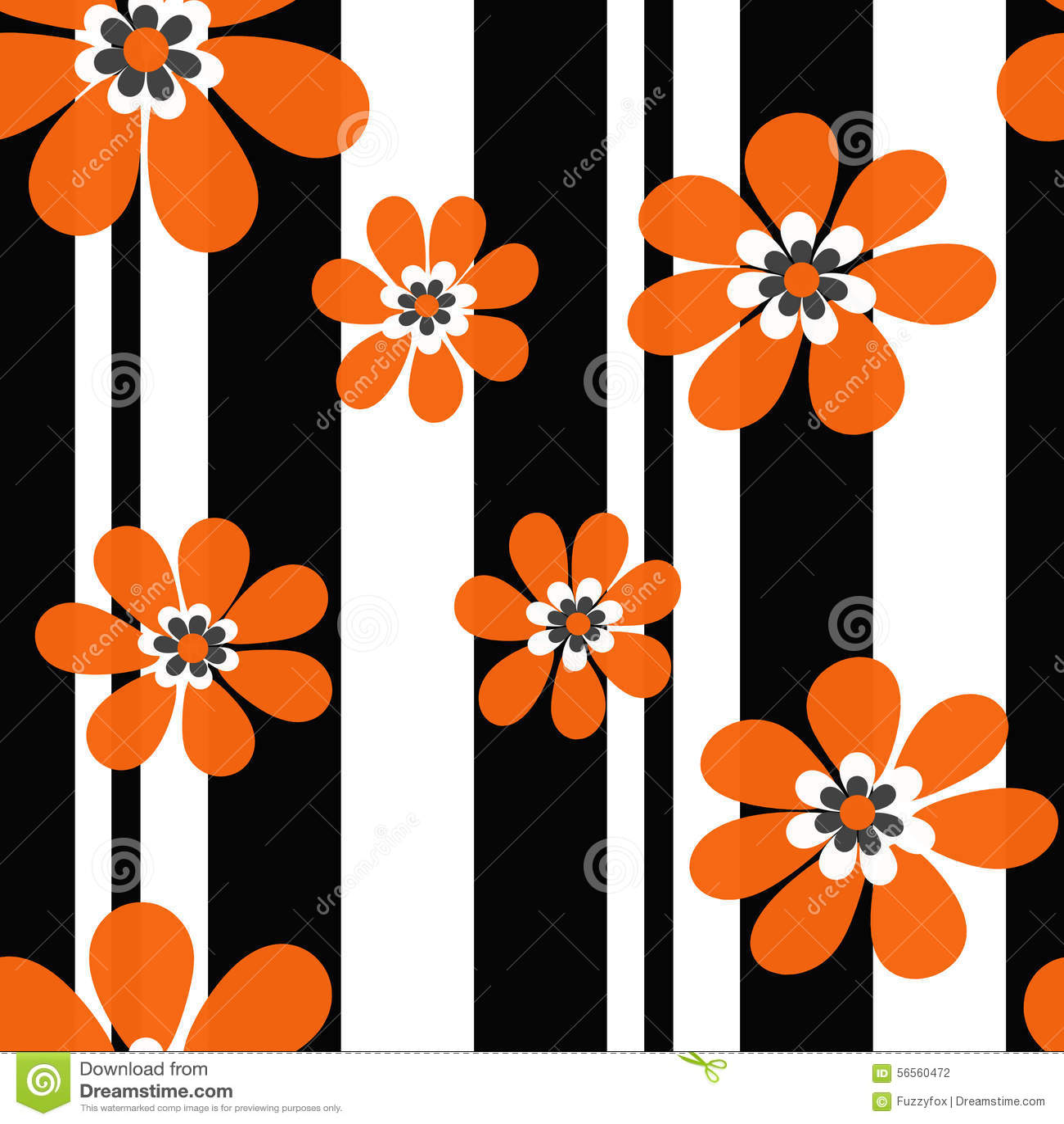 Download Άνευ ραφής Floral σύγχρονο υπόβαθρο σχεδίων Απεικόνιση αποθεμάτων - εικονογραφία από αποχής, μαύρα: 56560472