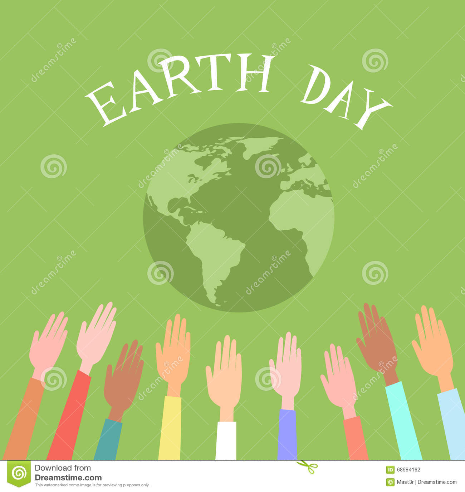 Άνθρωποι που ανατρέφονται επάνω στην πράσινη σφαίρα ημέρας παγκόσμιας γης χεριών