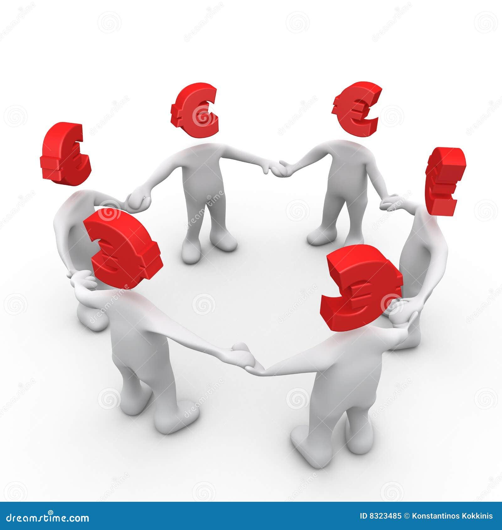 άνθρωποι που ενώνονται ευρο-
