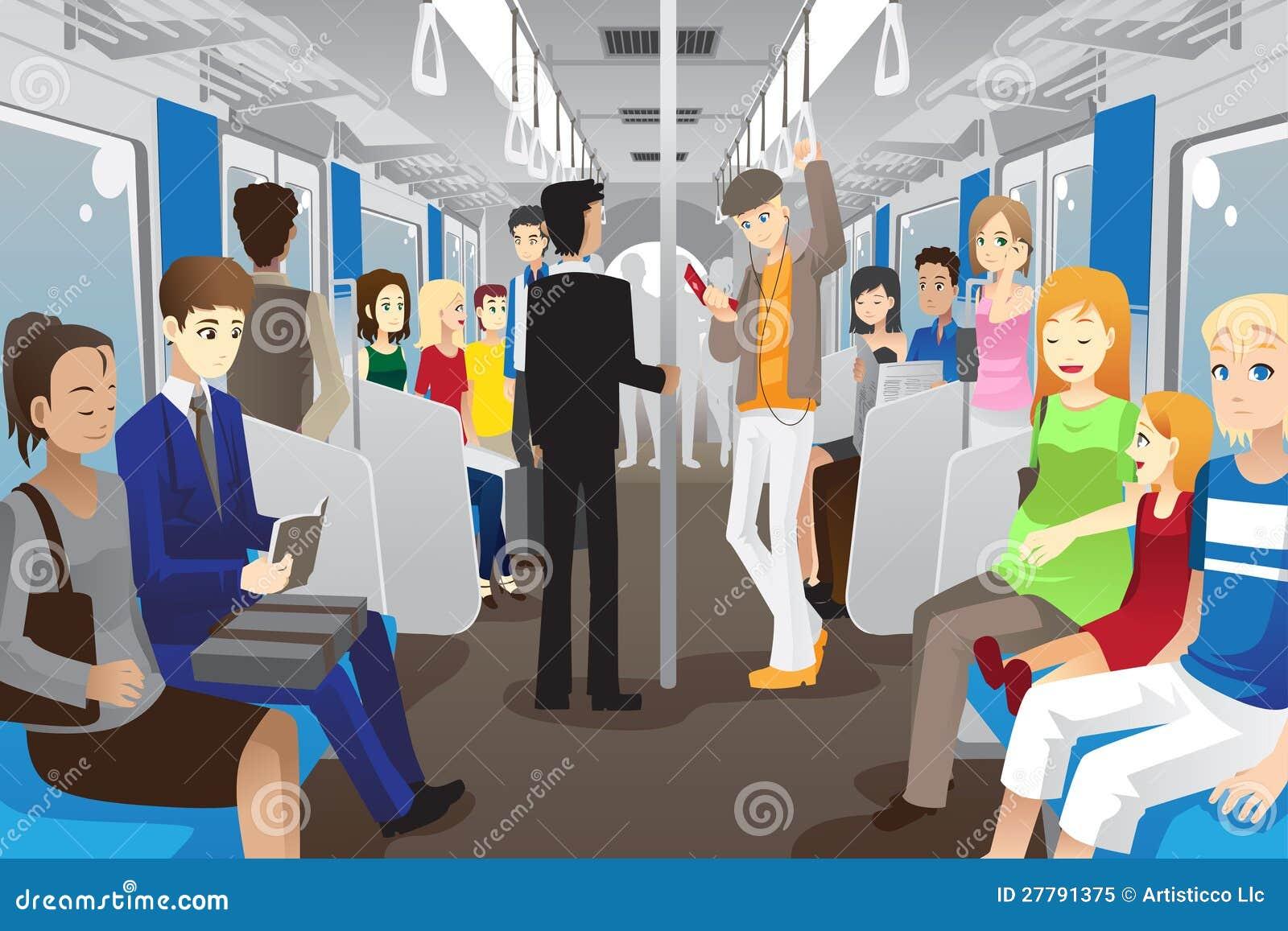 Άνθρωποι στο υπόγειο τρένο