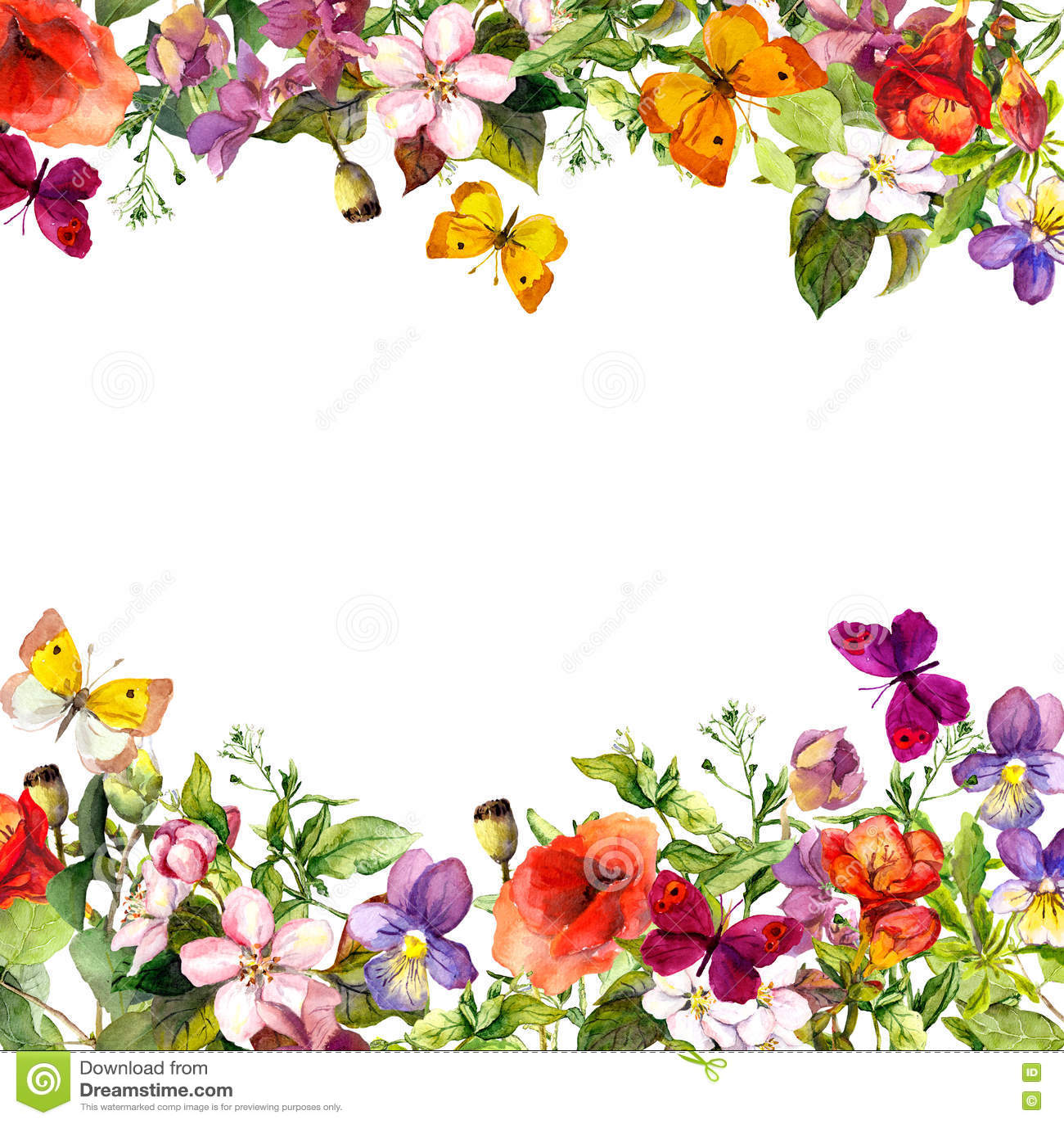 Άνοιξη, θερινός κήπος: λουλούδια, χλόη, χορτάρια, πεταλούδες floral πρότυπο καρδιών λουλουδιών απελευθέρωσης πεταλούδων κίτρινο w