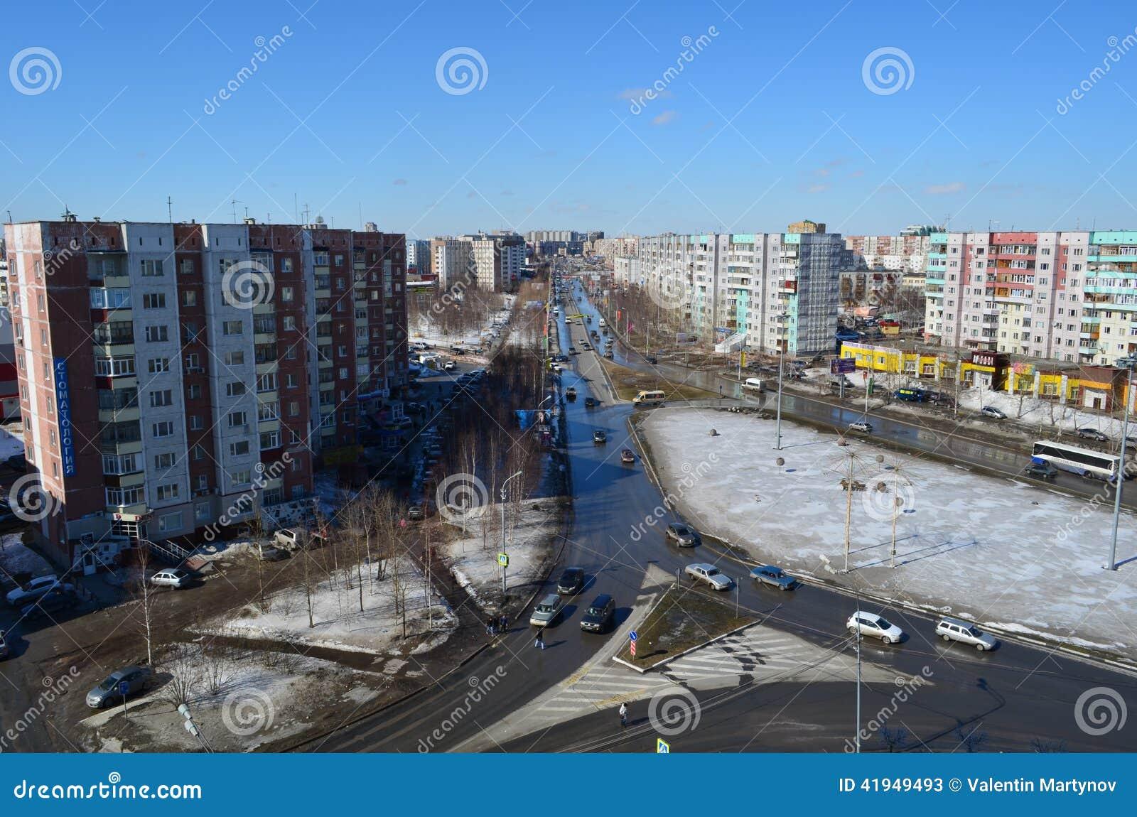 Άνοιξη σε Surgut, δυτική Σιβηρία, Ρωσία, 2013