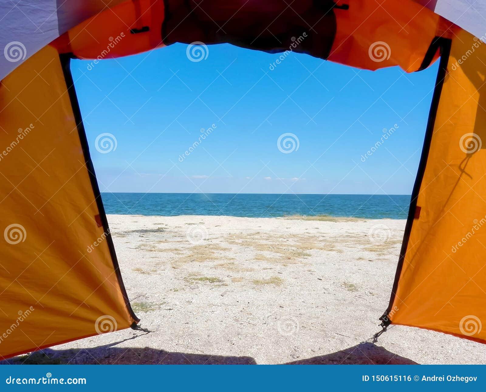 Άποψη από τη σκηνή στην άμμο