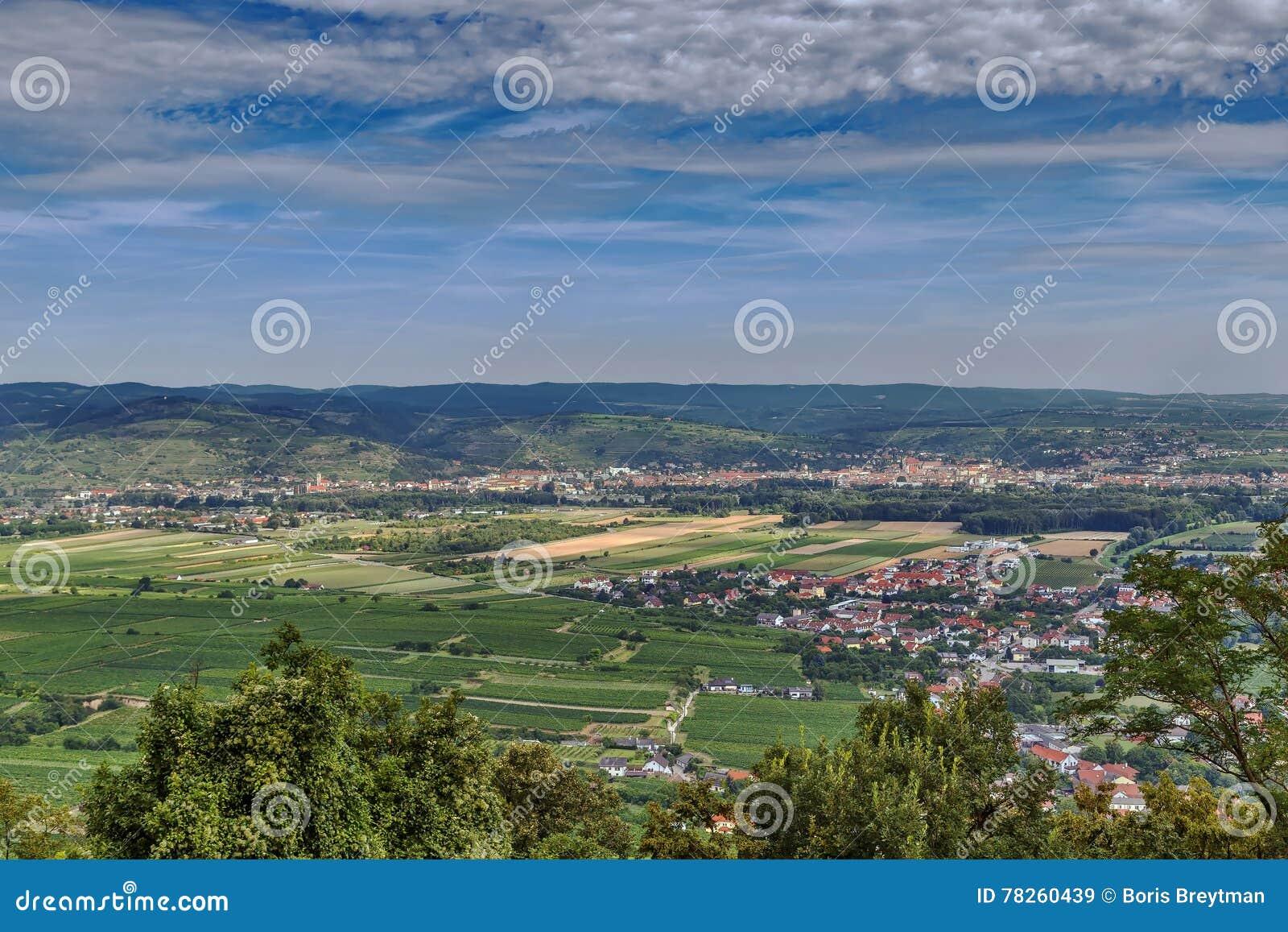 Άποψη από το λόφο αβαείων Gottweig, Αυστρία