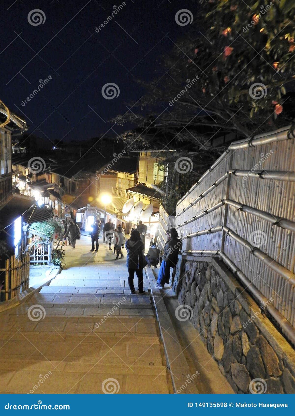 Άποψη βραδιού του higashiyama Κιότο Ιαπωνία ninen-Zaka
