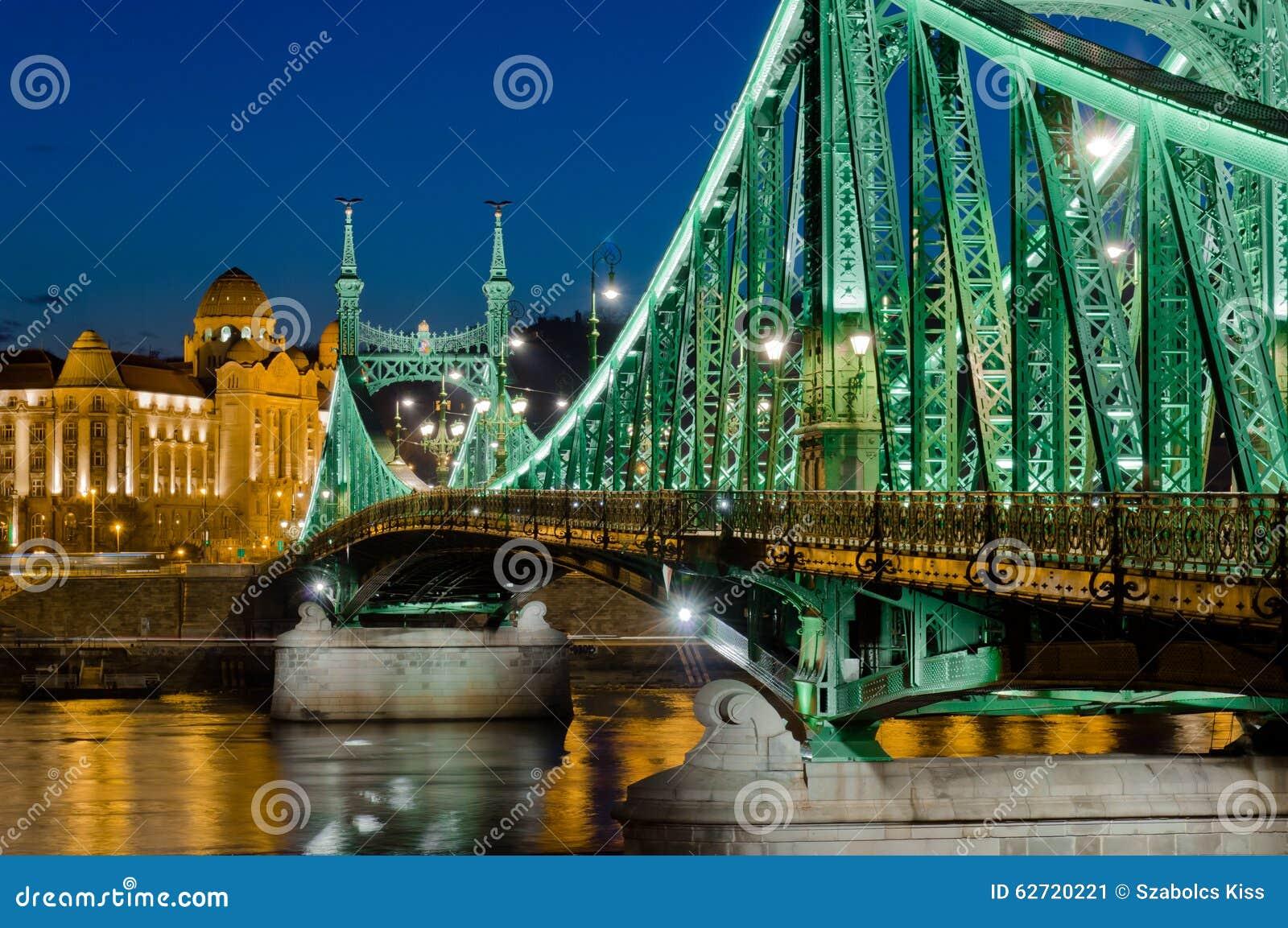 Άποψη γεφυρών ελευθερίας, Βουδαπέστη, Ουγγαρία