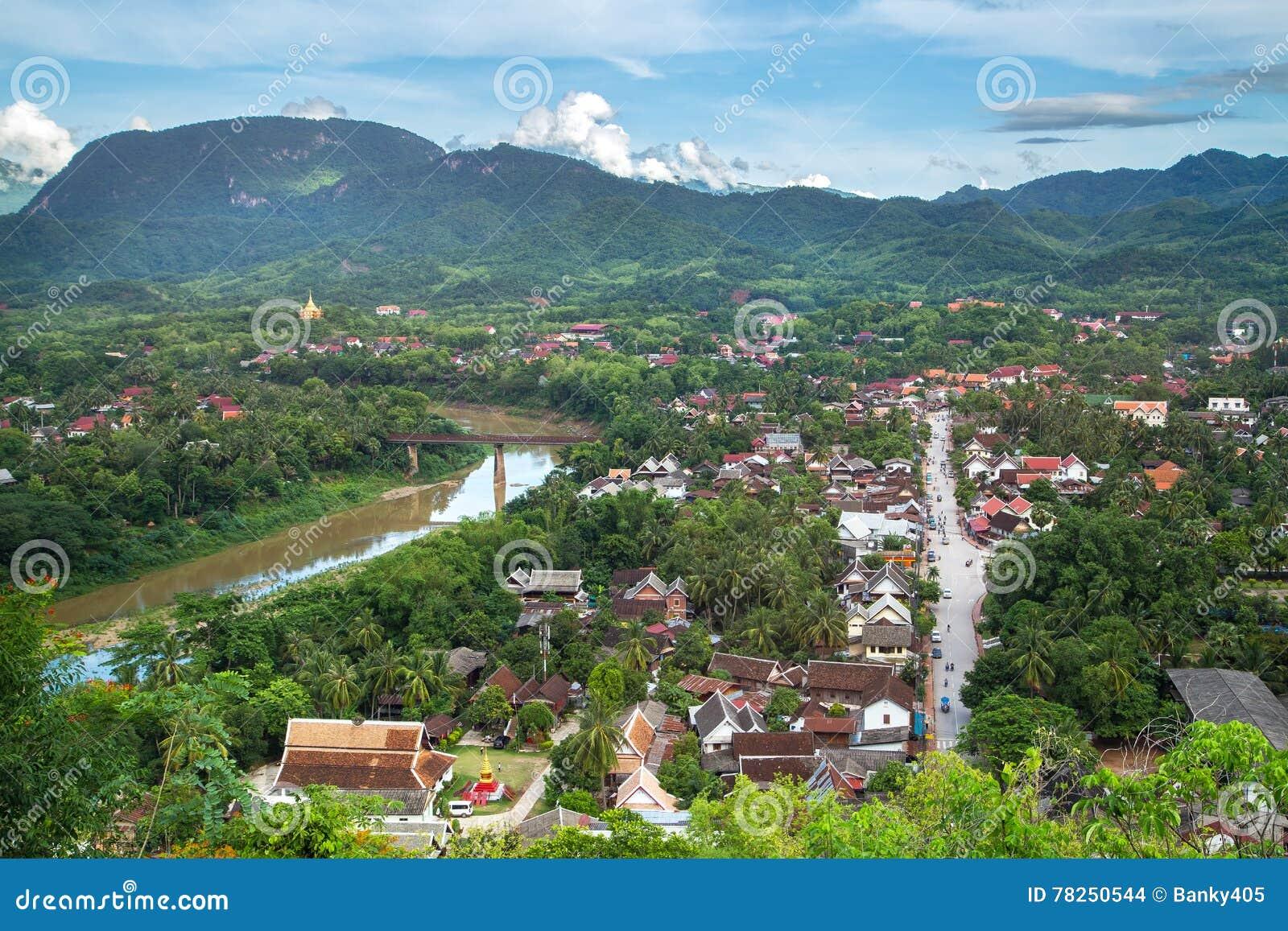 Άποψη και τοπίο στο luang prabang