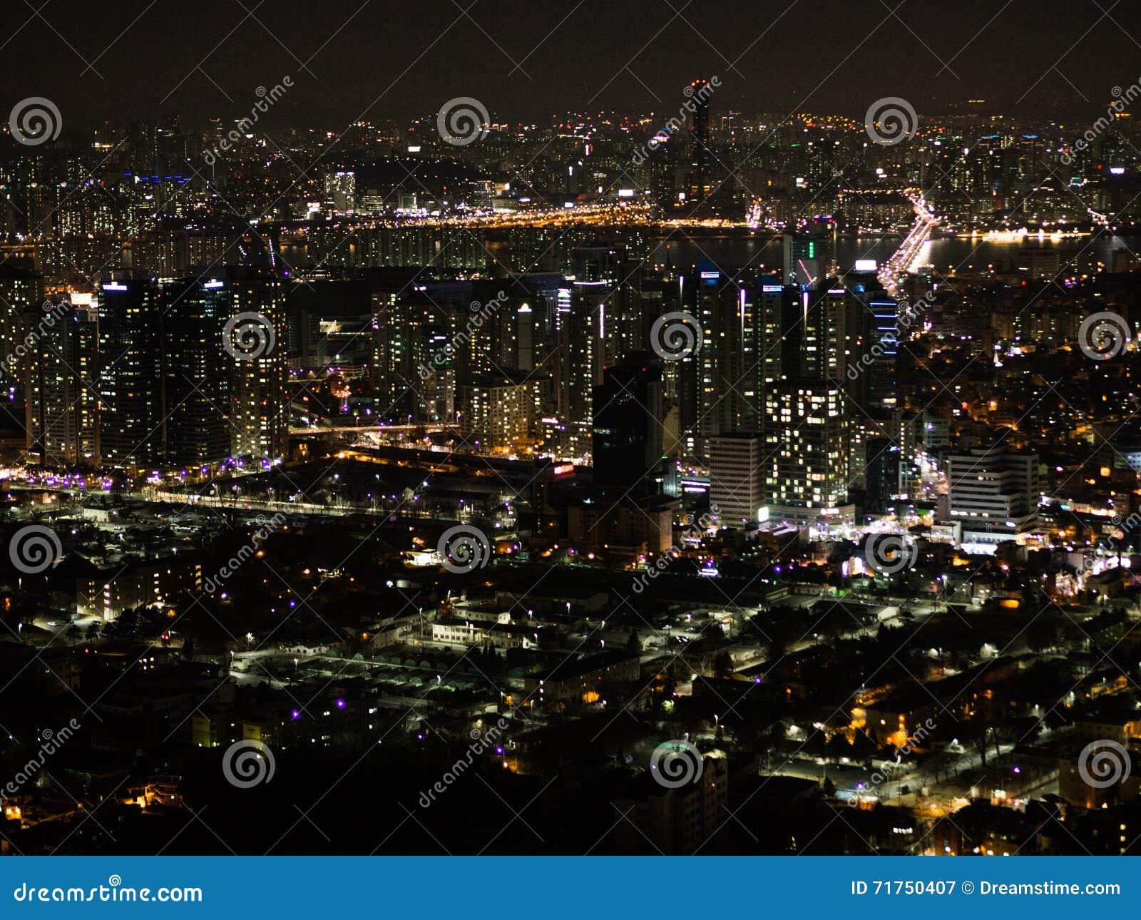 Άποψη νύχτας της Σεούλ