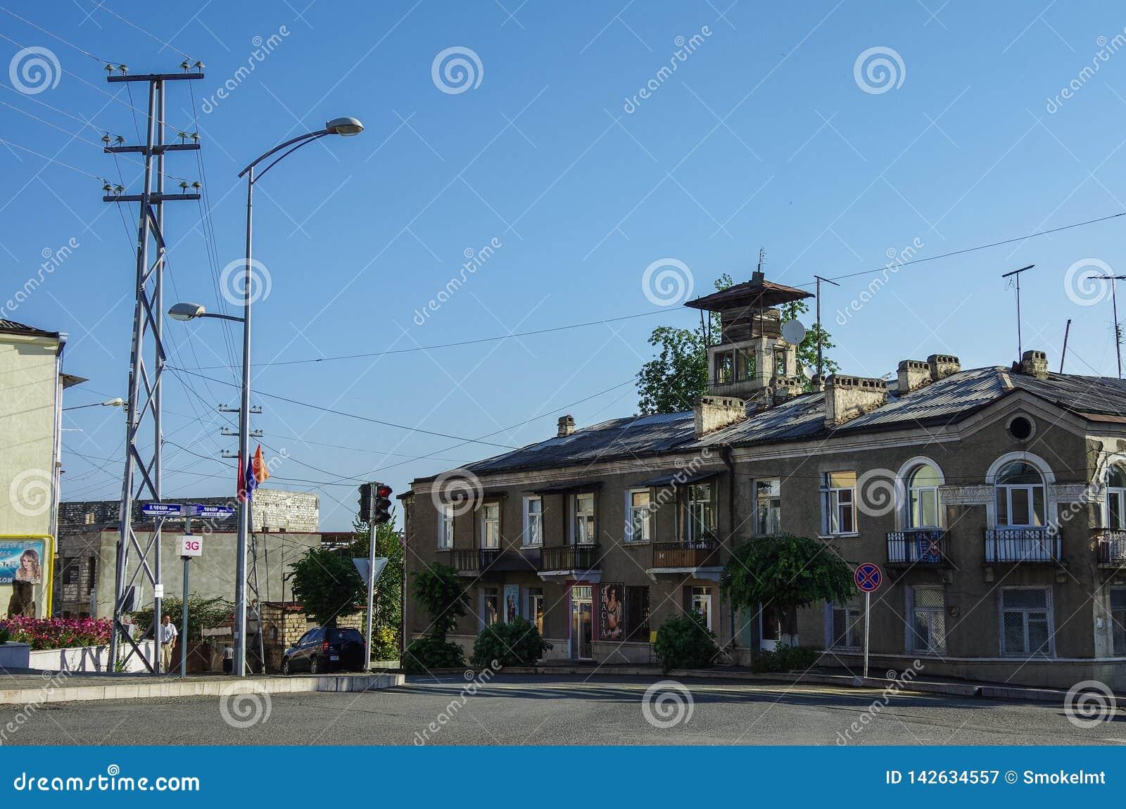 Άποψη οδών Stepanakert η πρωτεύουσα της περιοχής του Ναγκόρνο-Καραμπάχ Artsakh