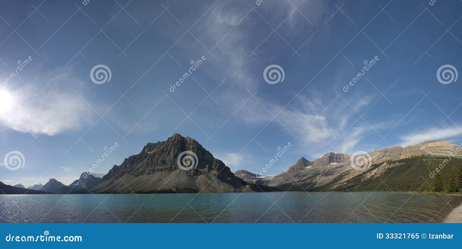 Άποψη παγετώνων πάρκων Icefield λιμνών τόξων