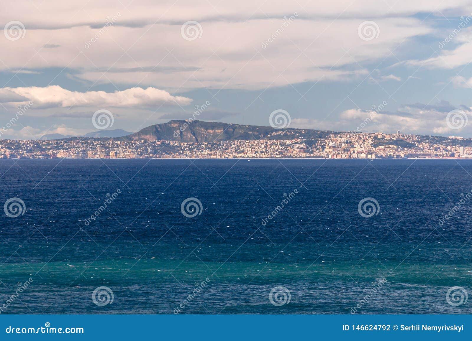 Άποψη Σορέντο, Ιταλία του κόλπου της Νάπολης