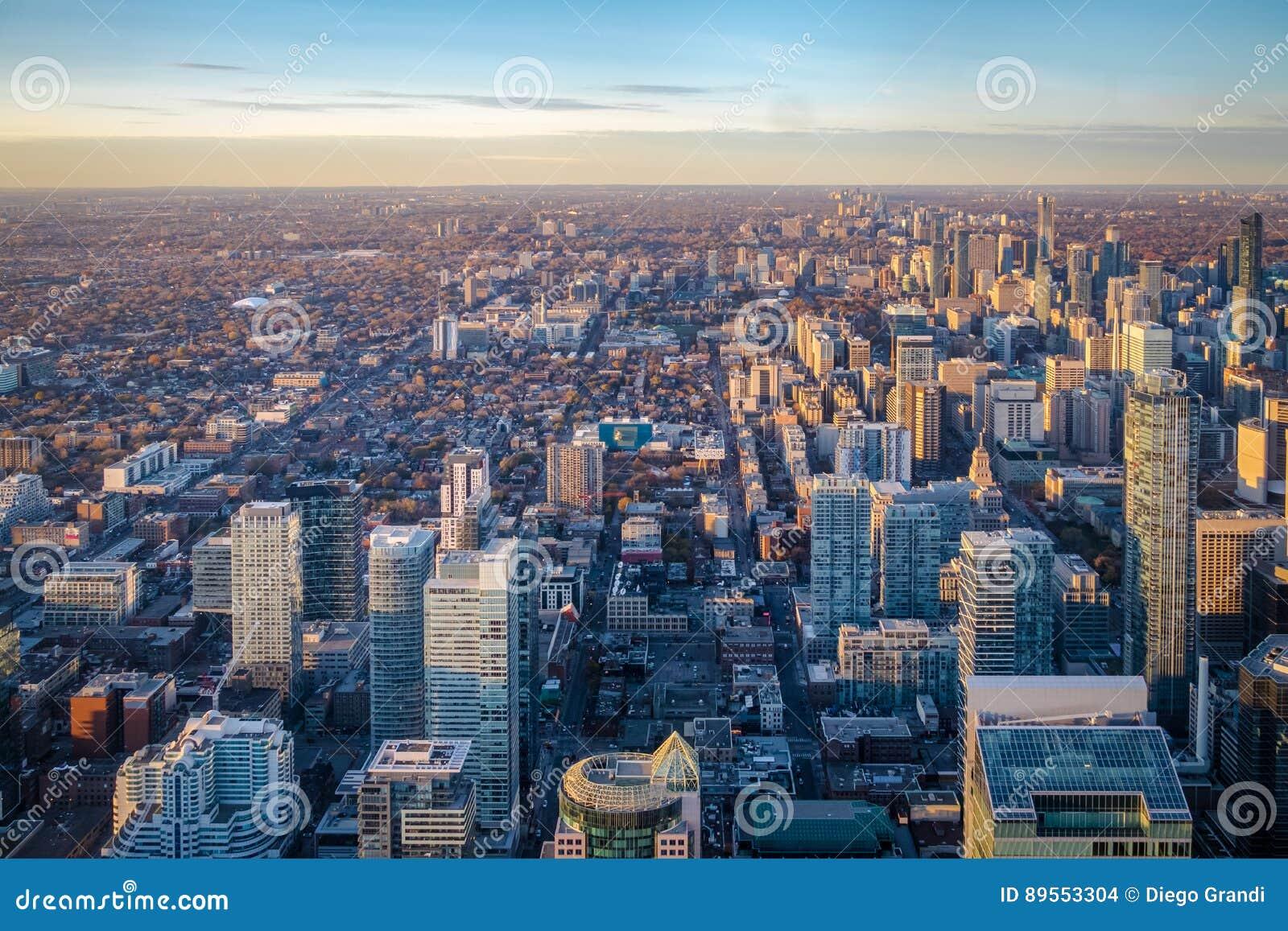 Άποψη της πόλης του Τορόντου άνωθεν - Τορόντο, Οντάριο, Καναδάς