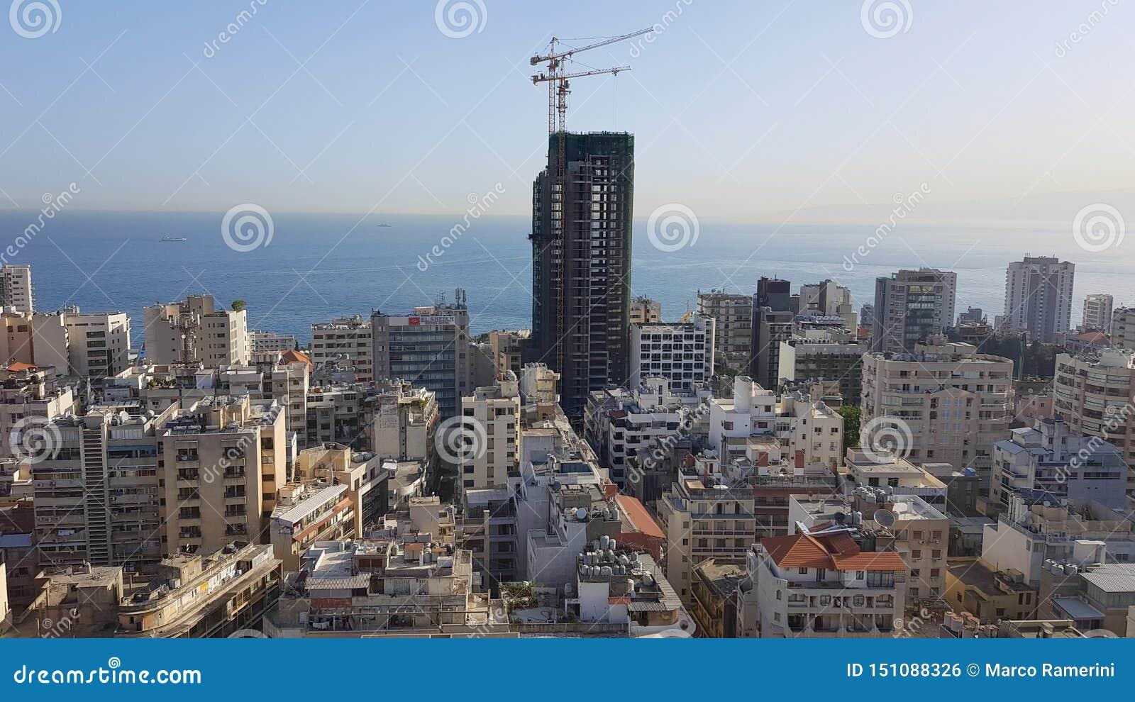 Άποψη της στο κέντρο της πόλης Βηρυττού Βηρυττός, Λίβανος
