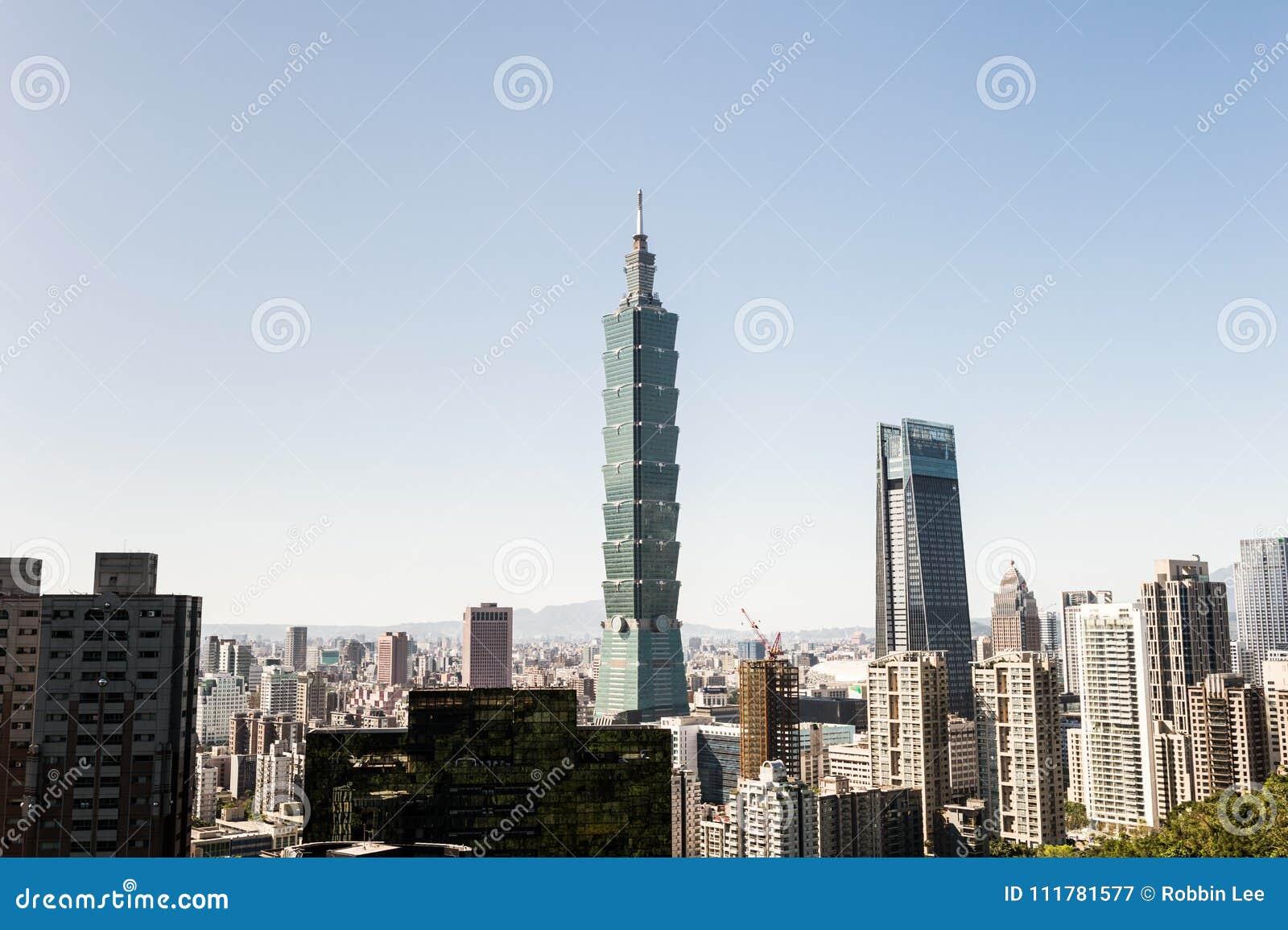 Άποψη της Ταϊπέι 101 κτήριο World Trade Center