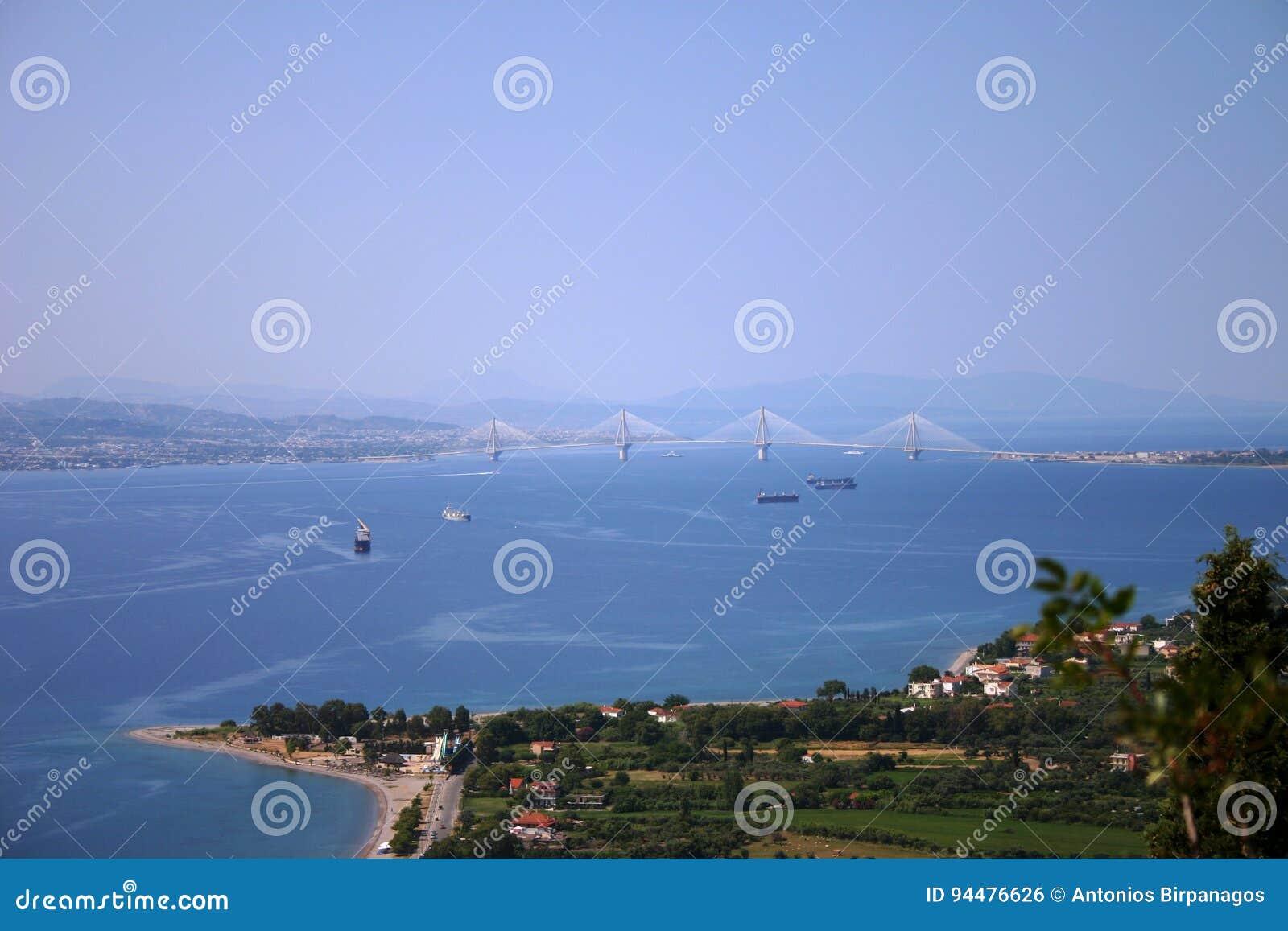 Άποψη τοπίων ενός κόλπου στη Μεσόγειο
