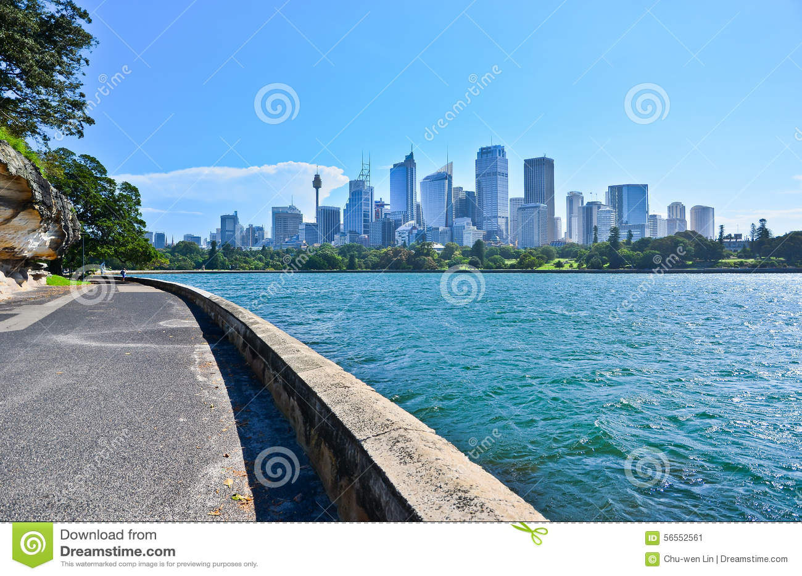 Download Άποψη του λιμανιού του Σίδνεϊ Στοκ Εικόνα - εικόνα από μητρόπολη, cityscape: 56552561