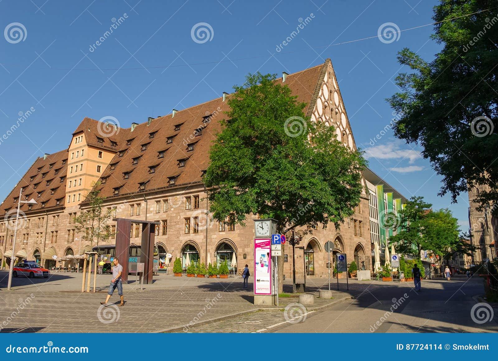 Άποψη του κτηρίου Mauthalle στο παλαιό πόλης μέρος της Νυρεμβέργης