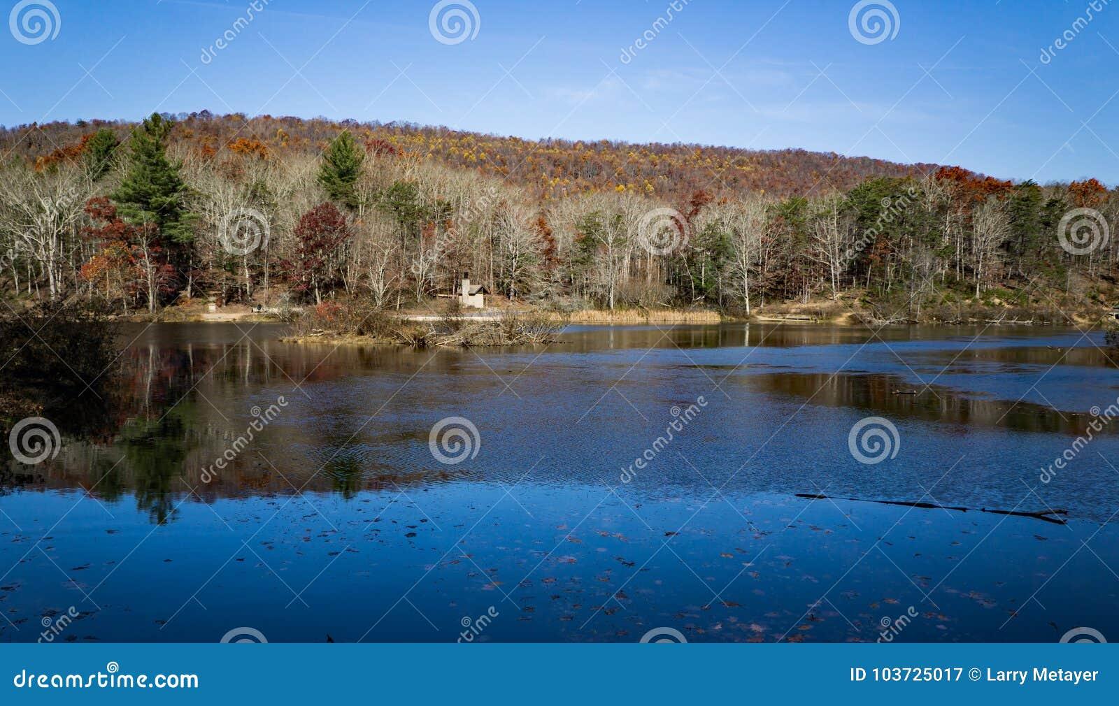 Άποψη φθινοπώρου της λίμνης Pandapas