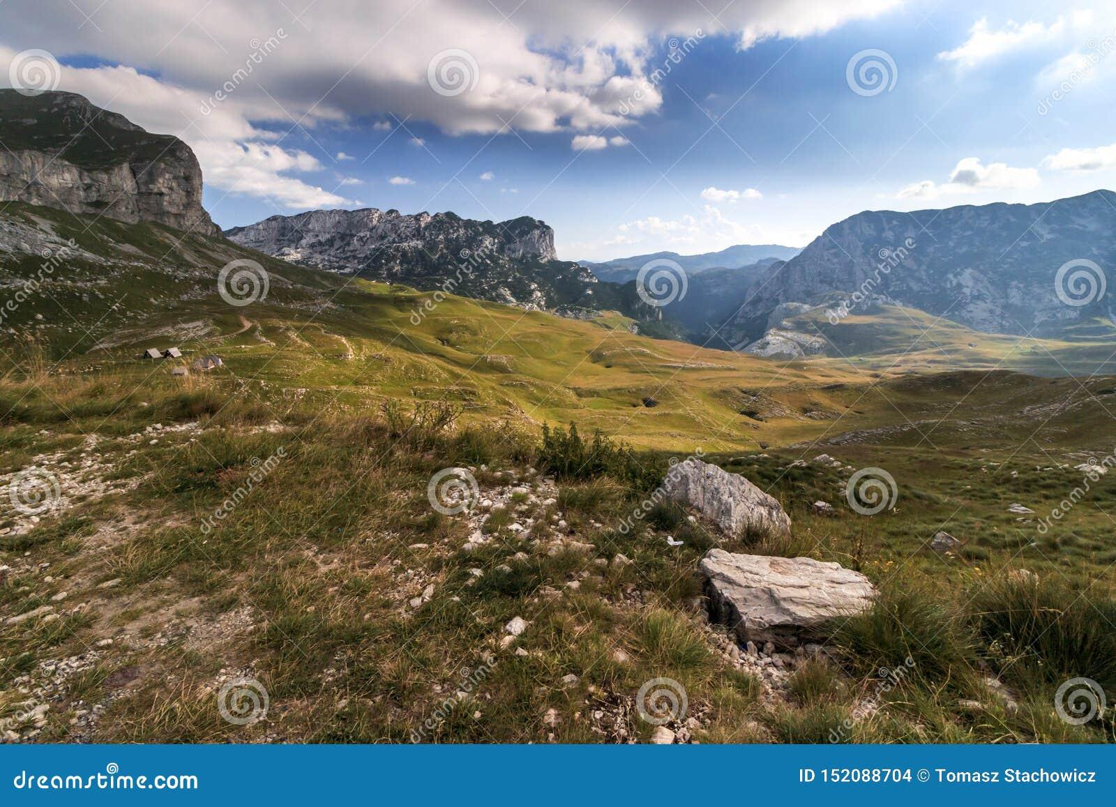 Άποψη durmitor του Μαυροβουνίου στα βουνά