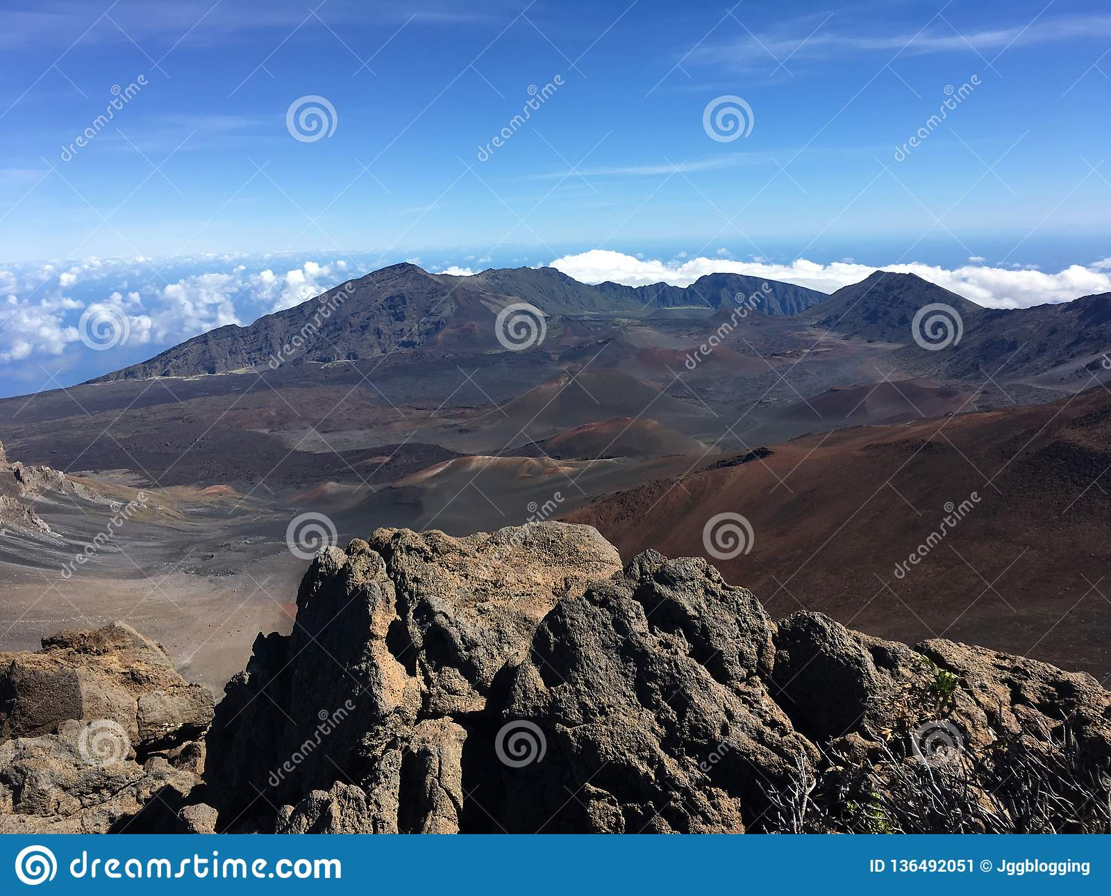 Άποψη Haleakala σε Maui