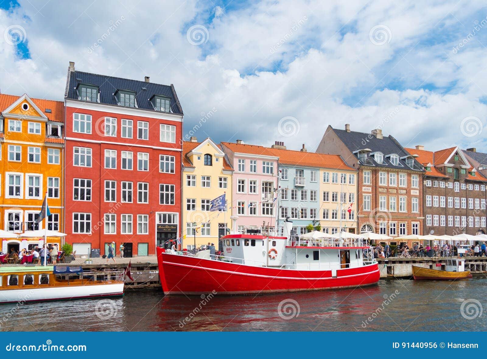 Άποψη Nyhavn στην Κοπεγχάγη, Δανία