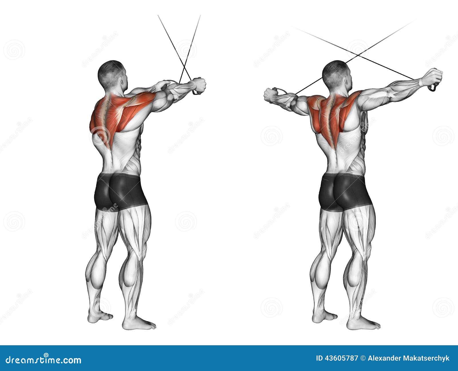 άσκηση Τα διαγώνια χέρια πριν από τους ανώτερους φραγμούς