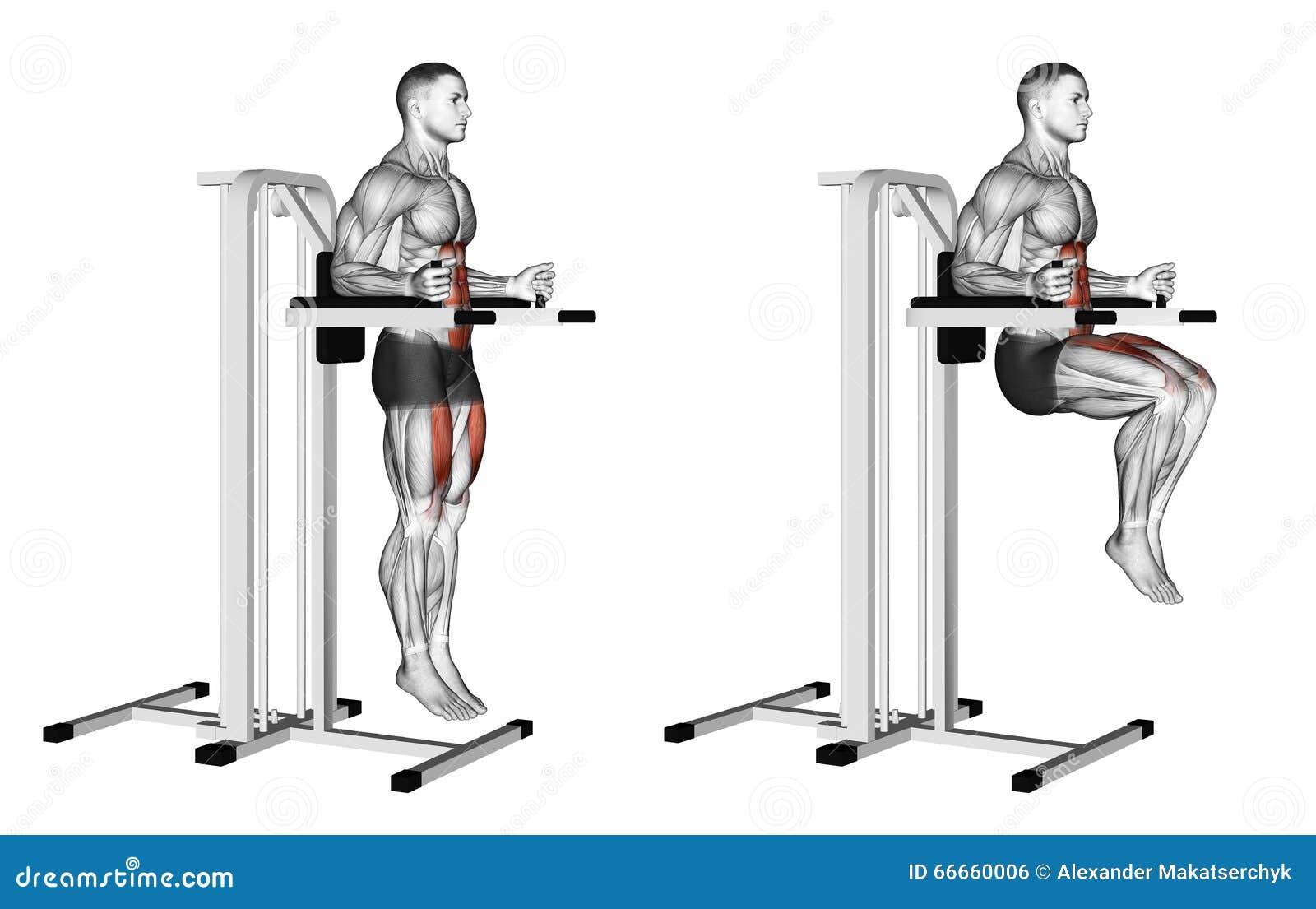 άσκηση Το γόνατο αυξάνει στους παράλληλους φραγμούς