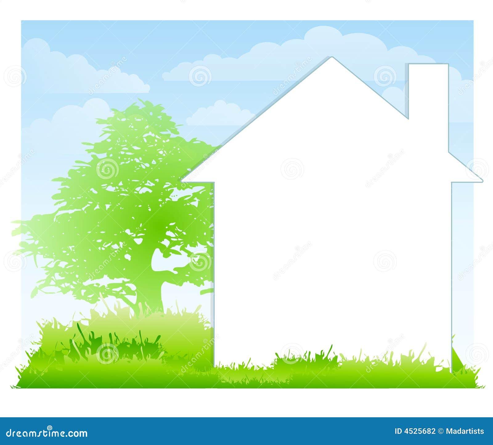 άσπρη αυλή σπιτιών ανασκόπησης
