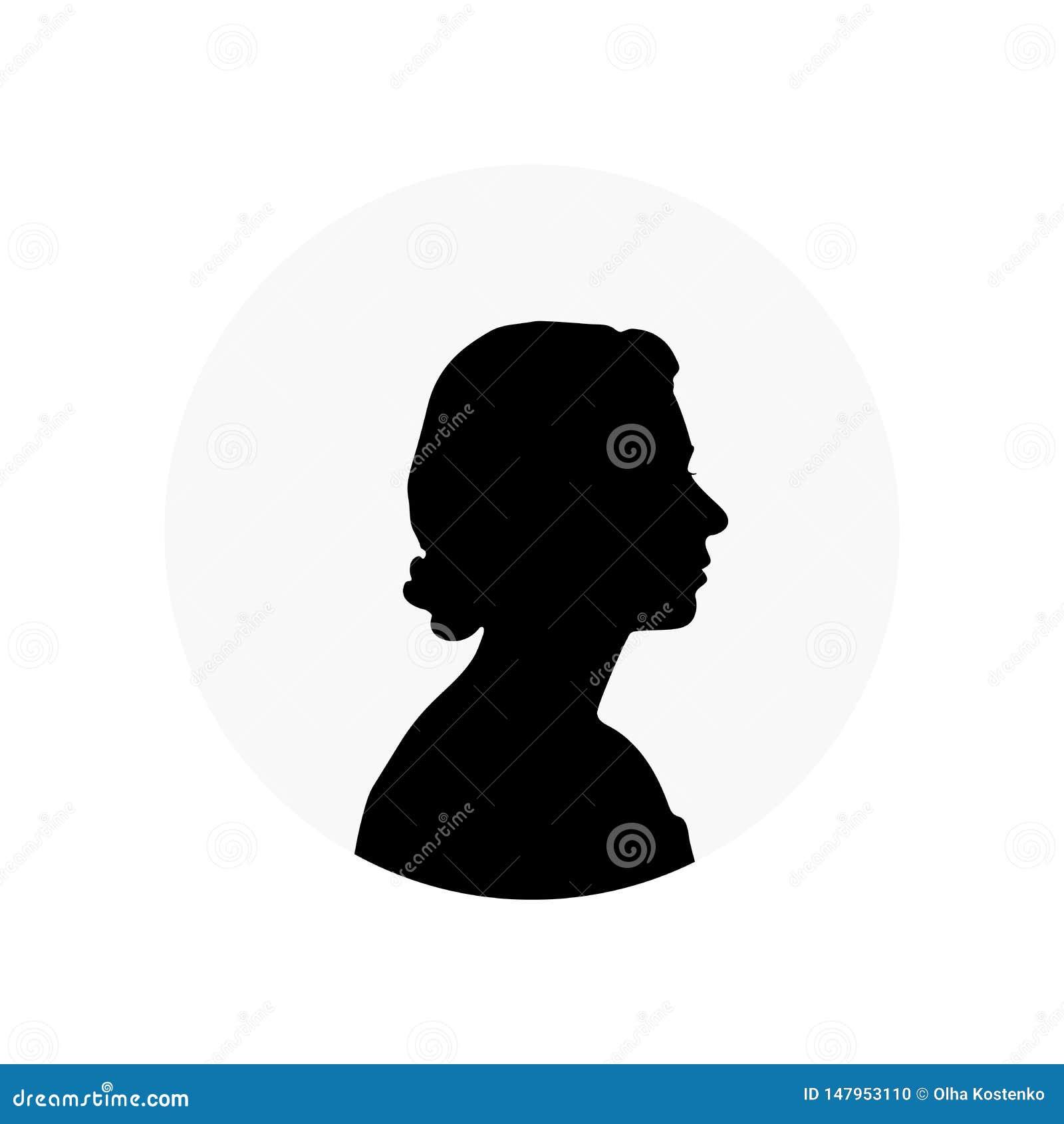 Άσπρη σκιαγραφία της βασίλισσας Elizabeth