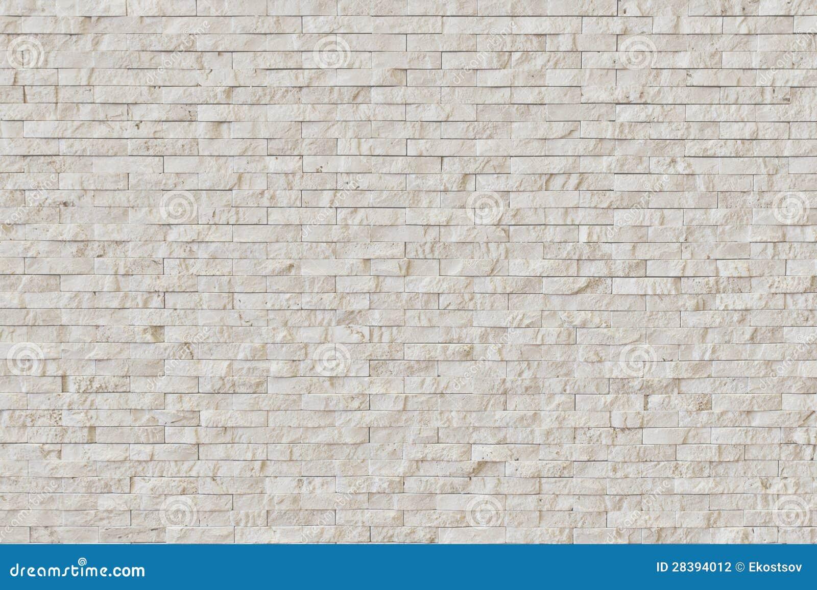 Άσπρος σύγχρονος τουβλότοιχος πετρών