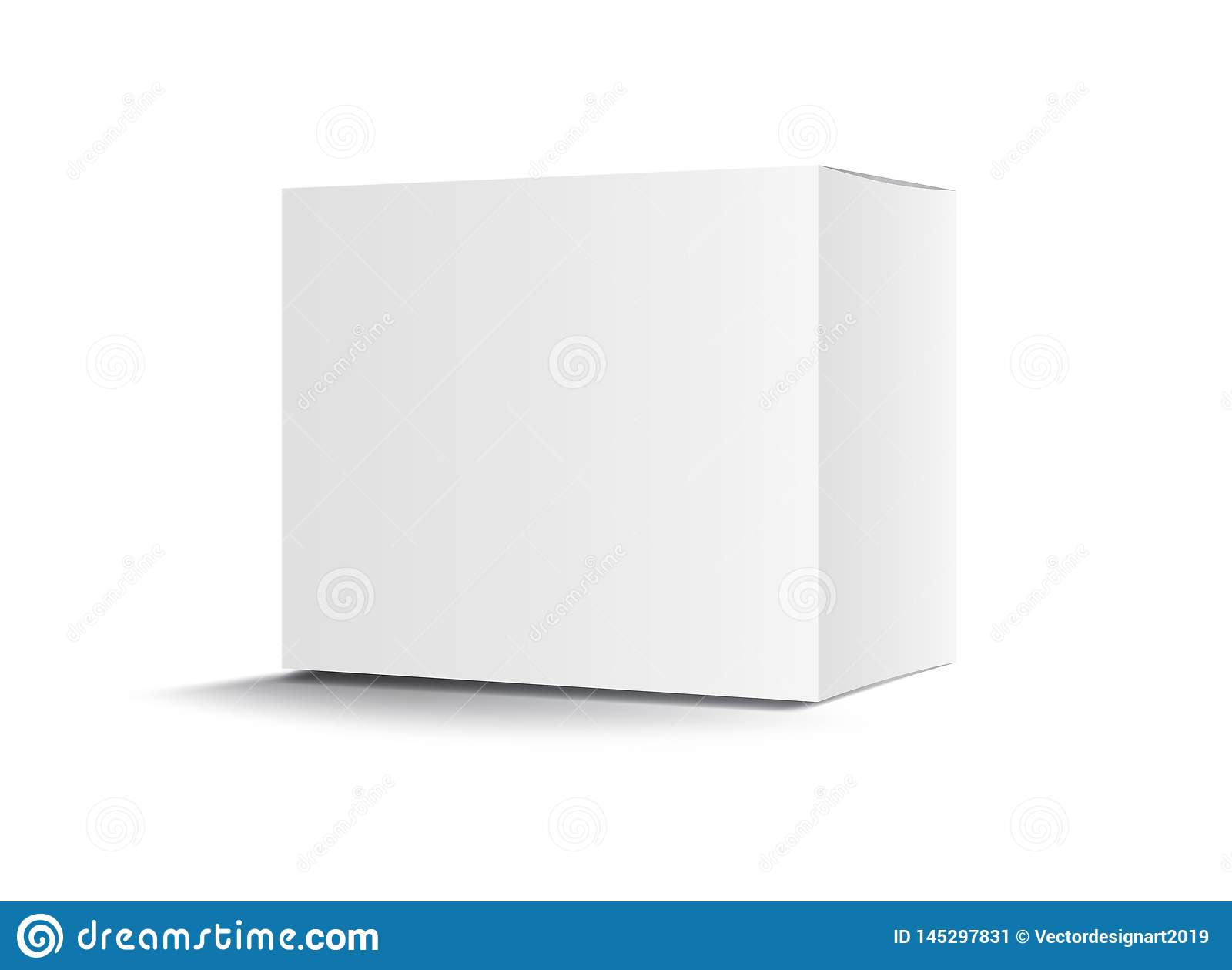 Άσπρο διάνυσμα κιβωτίων συσκευασίας, σχέδιο συσκευασίας, τρισδιάστατ