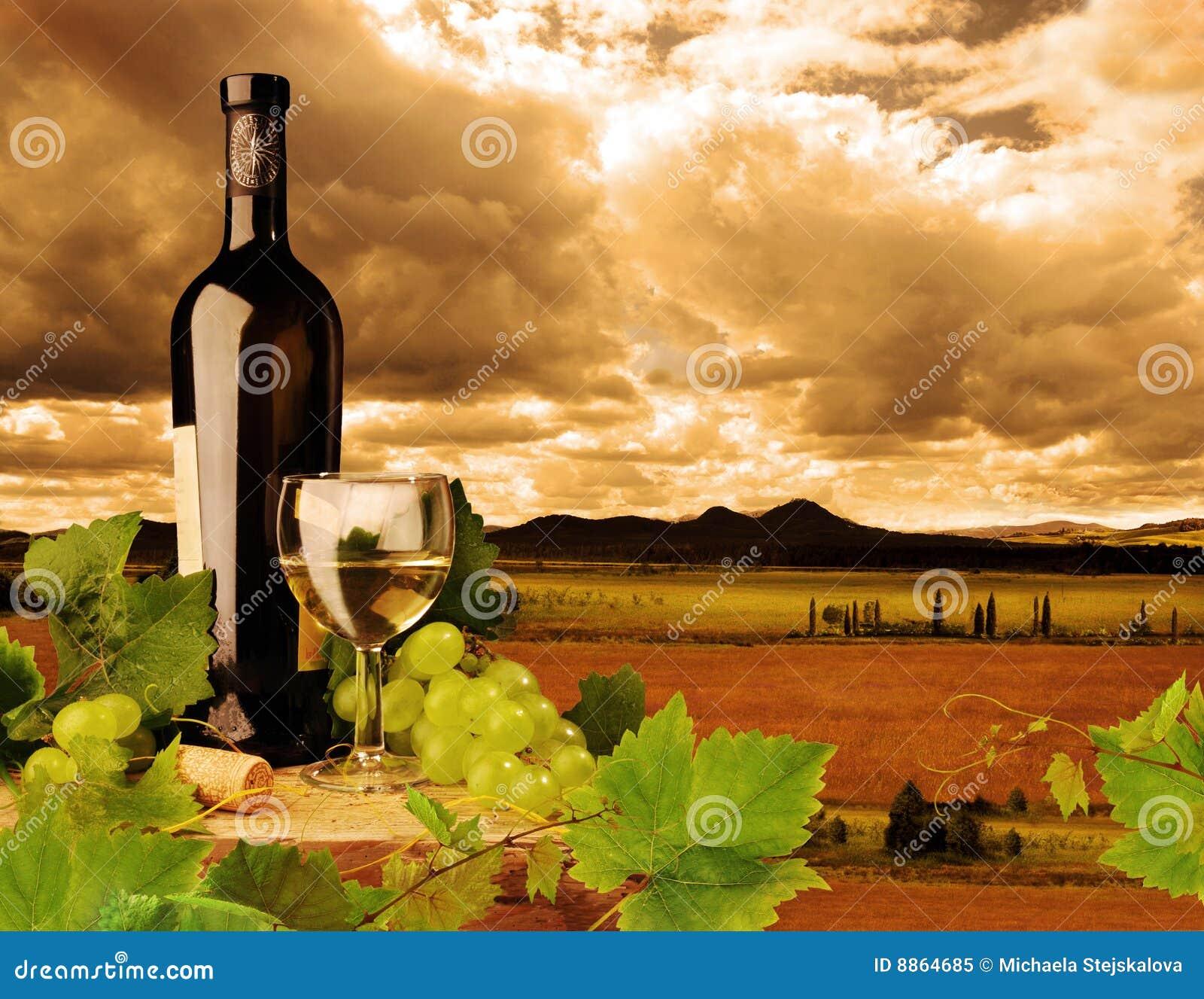 άσπρο κρασί ηλιοβασιλέμα&