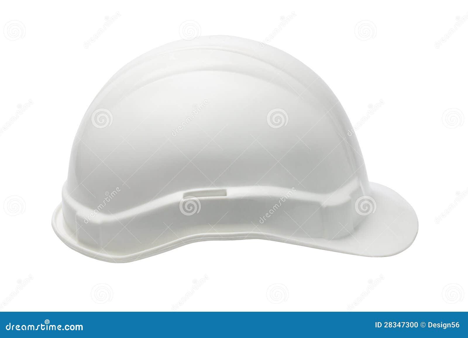 Άσπρο πλαστικό κράνος ασφάλειας