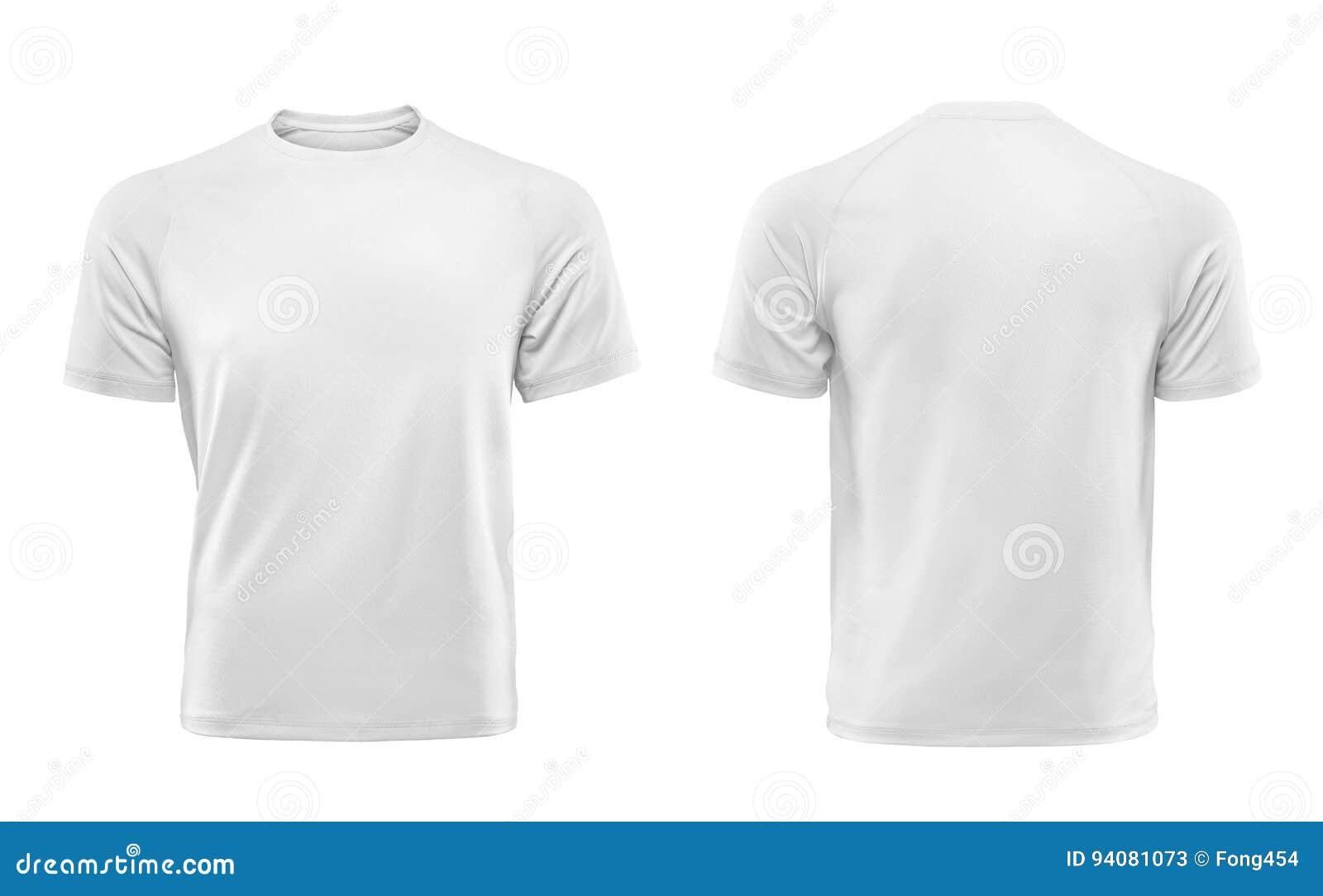 Άσπρο πρότυπο σχεδίου μπλουζών που απομονώνεται στο άσπρο υπόβαθρο