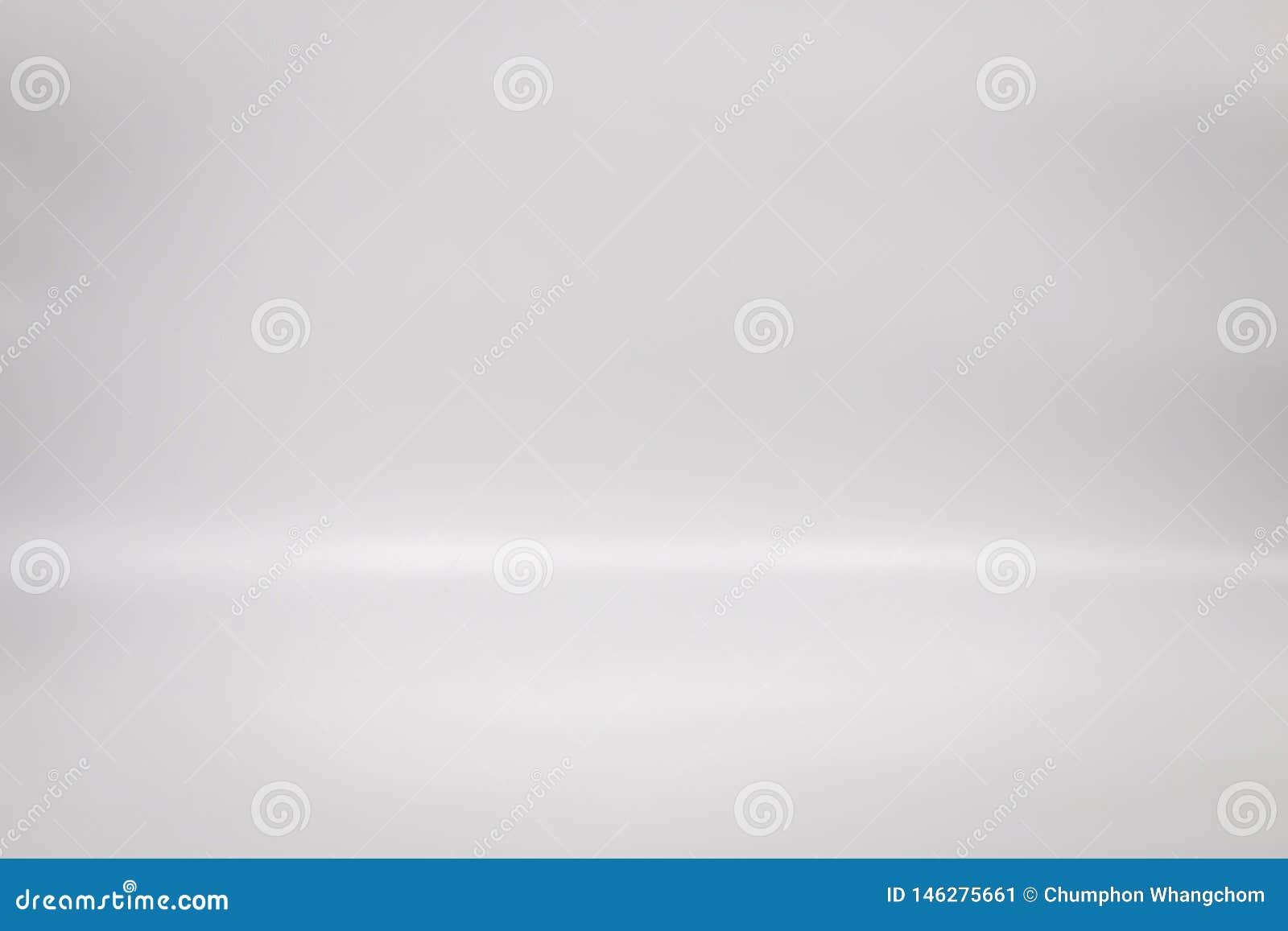 Άσπρο σκηνικό για το προϊόν σας Υπόβαθρο πατωμάτων στούντιο Κενή εσωτερική γκρίζα σκηνή