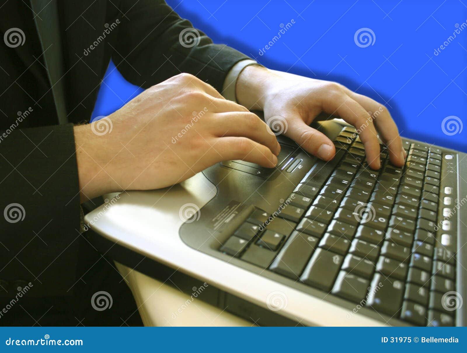 άτομο επιχειρησιακών lap-top